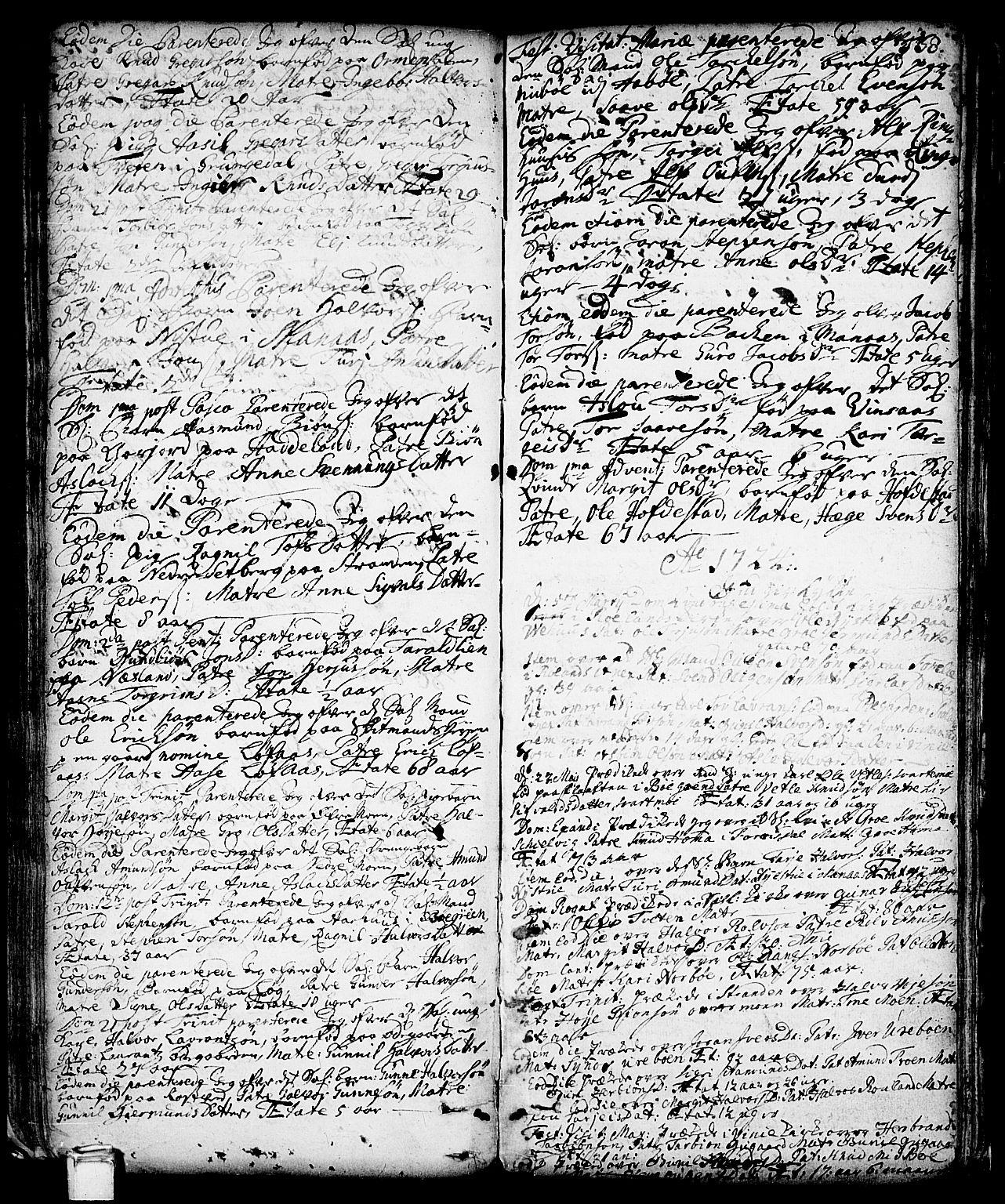 SAKO, Vinje kirkebøker, F/Fa/L0001: Ministerialbok nr. I 1, 1717-1766, s. 138