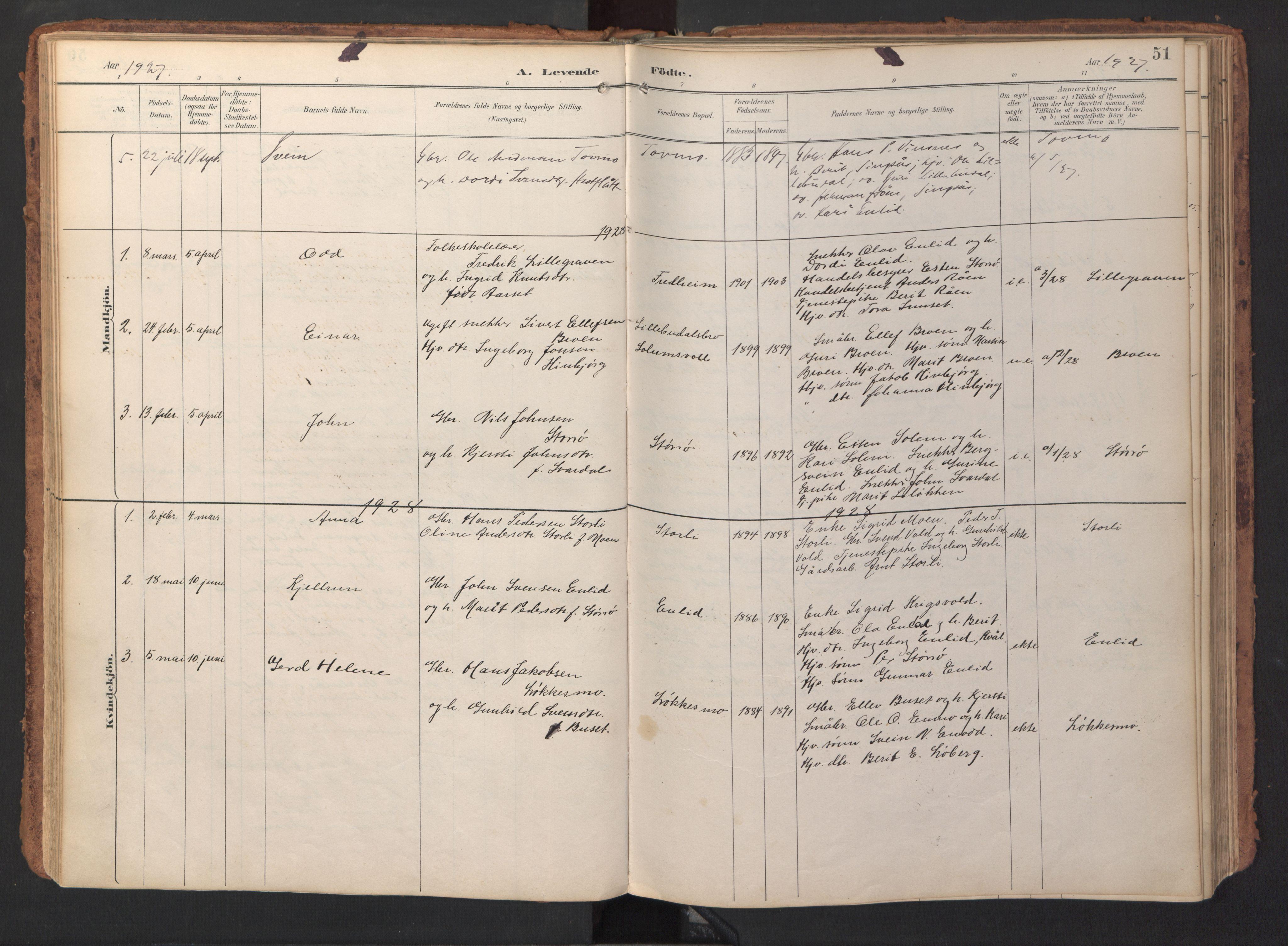 SAT, Ministerialprotokoller, klokkerbøker og fødselsregistre - Sør-Trøndelag, 690/L1050: Ministerialbok nr. 690A01, 1889-1929, s. 51