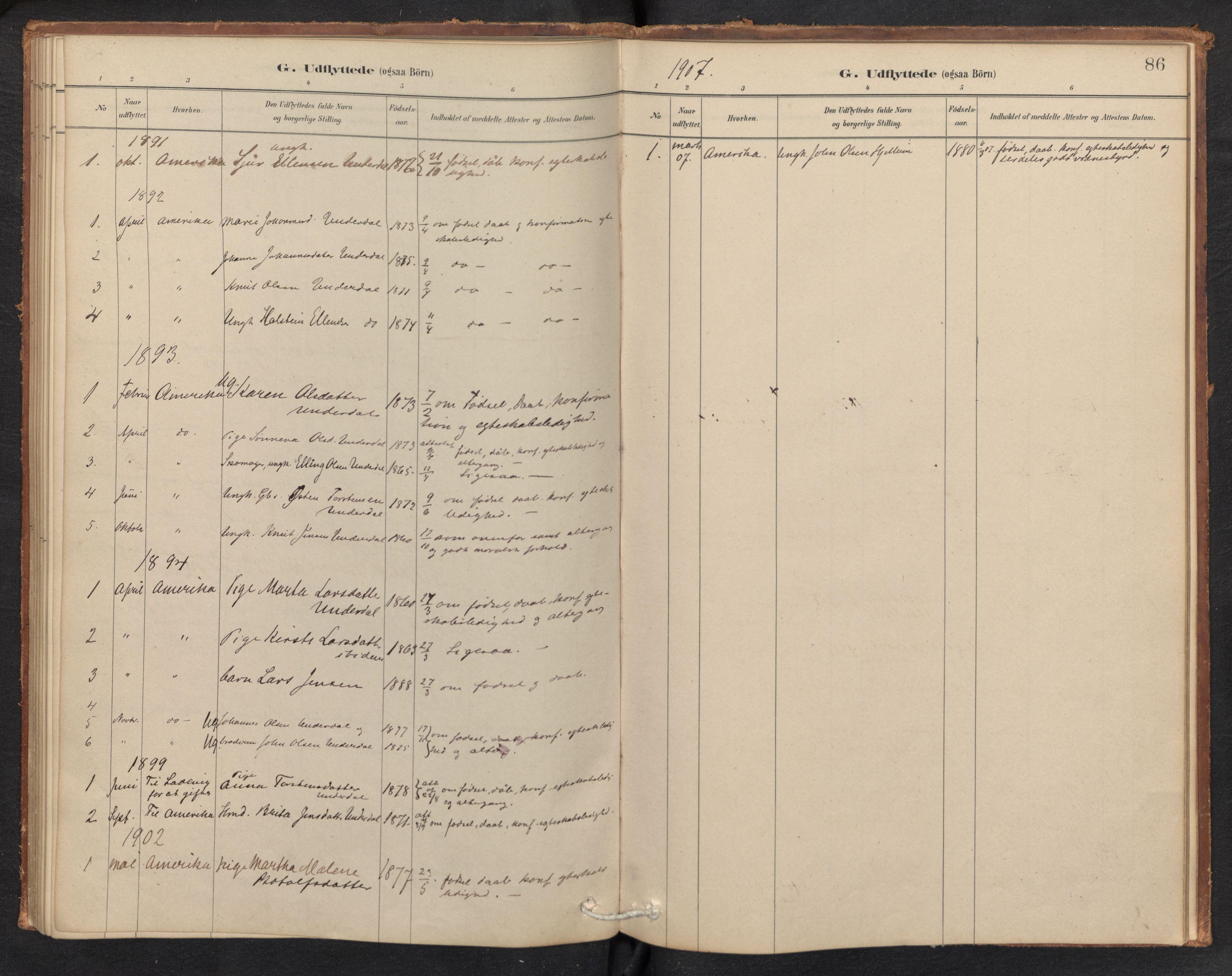 SAB, Aurland Sokneprestembete*, Ministerialbok nr. E 1, 1880-1907, s. 85b-86a