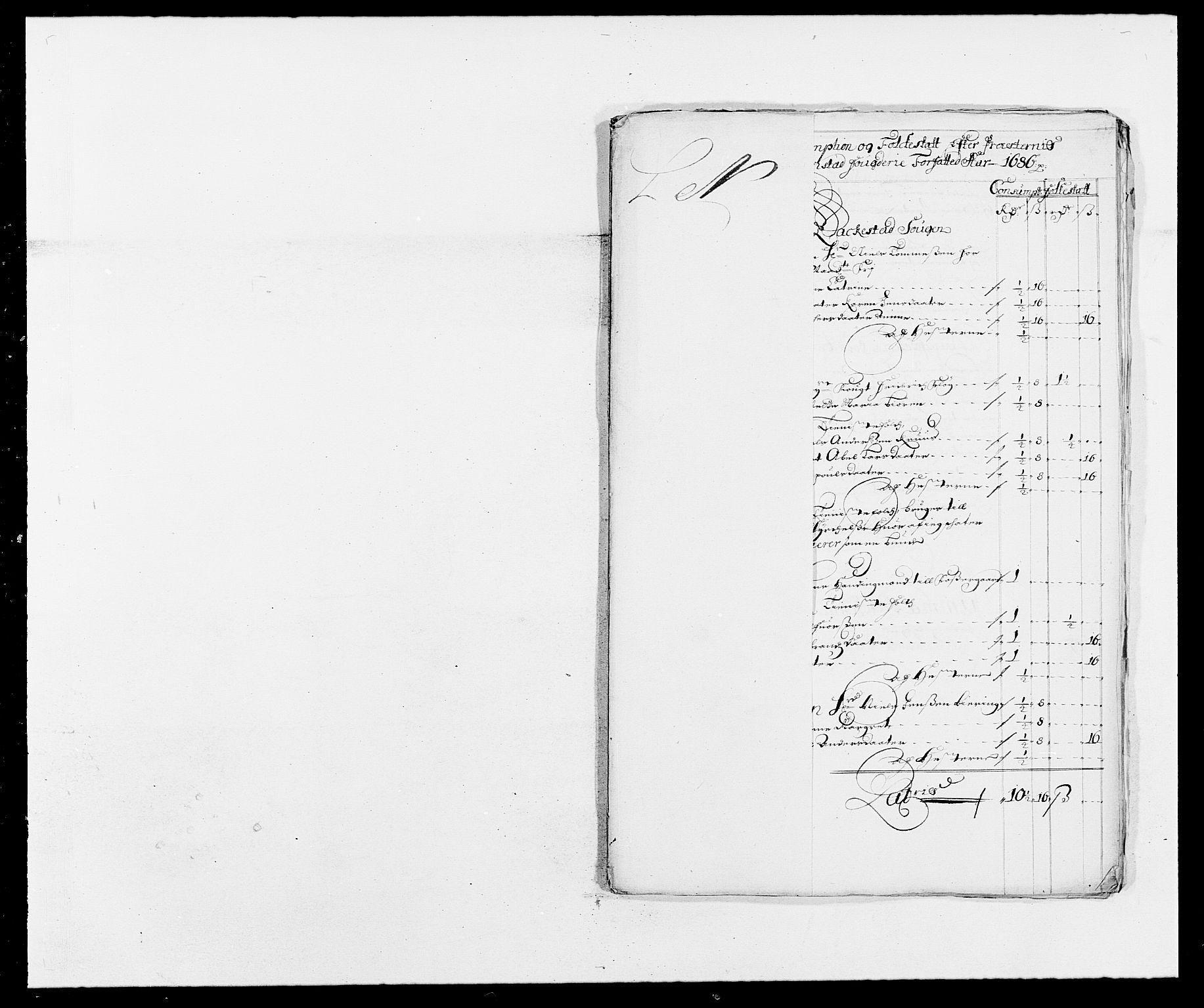 RA, Rentekammeret inntil 1814, Reviderte regnskaper, Fogderegnskap, R05/L0275: Fogderegnskap Rakkestad, 1685-1686, s. 273