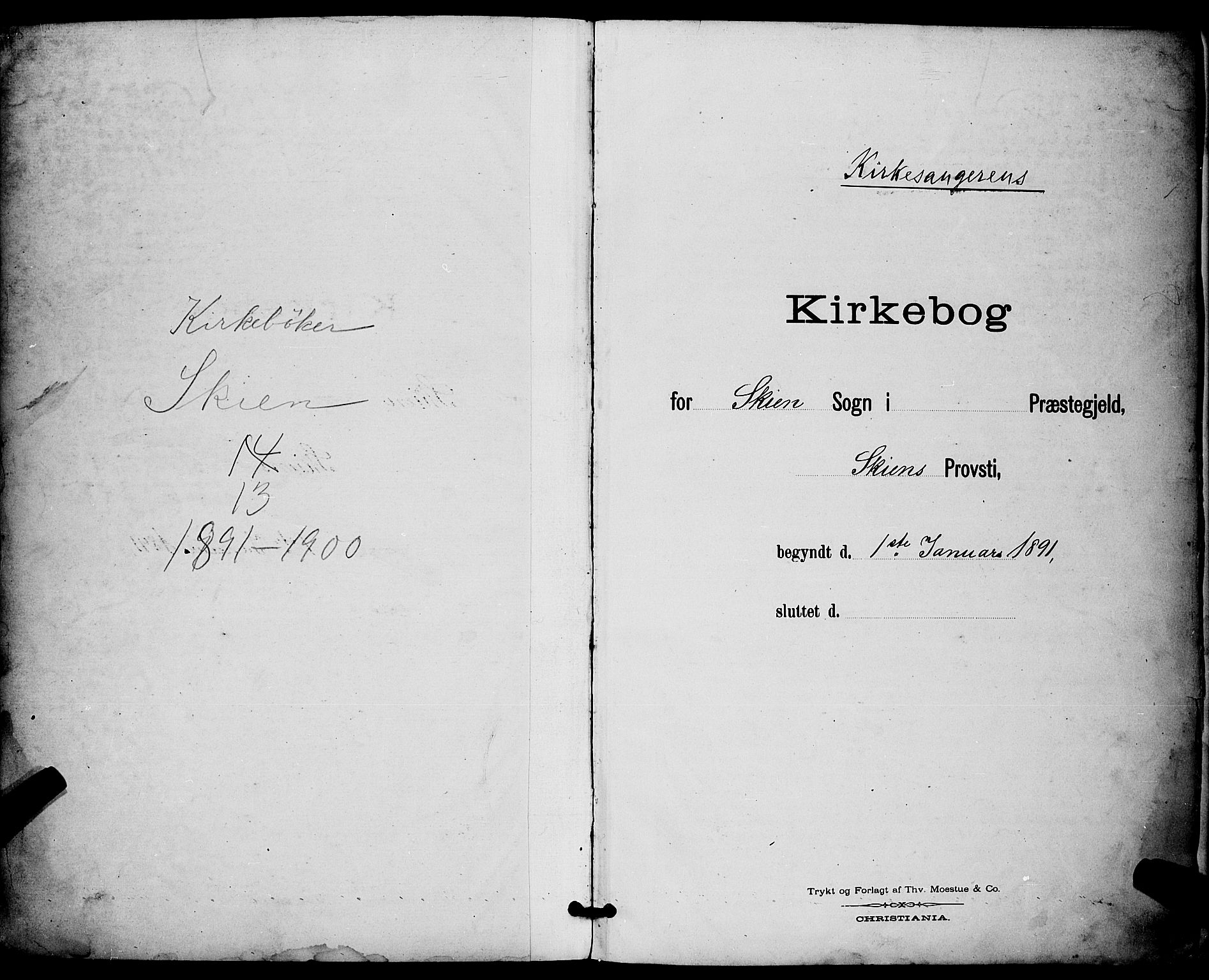 SAKO, Skien kirkebøker, G/Ga/L0007: Klokkerbok nr. 7, 1891-1900