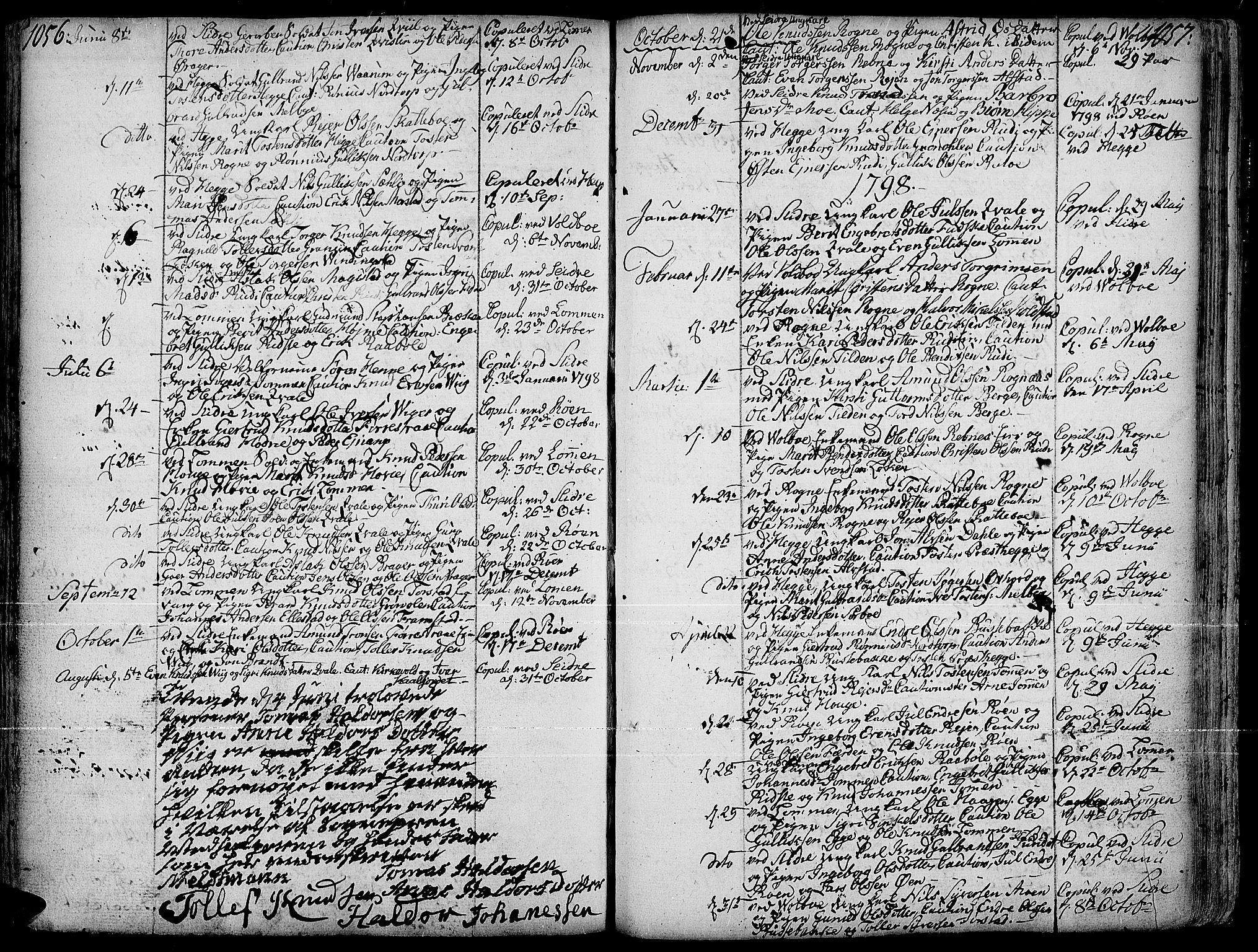 SAH, Slidre prestekontor, Ministerialbok nr. 1, 1724-1814, s. 1056-1057