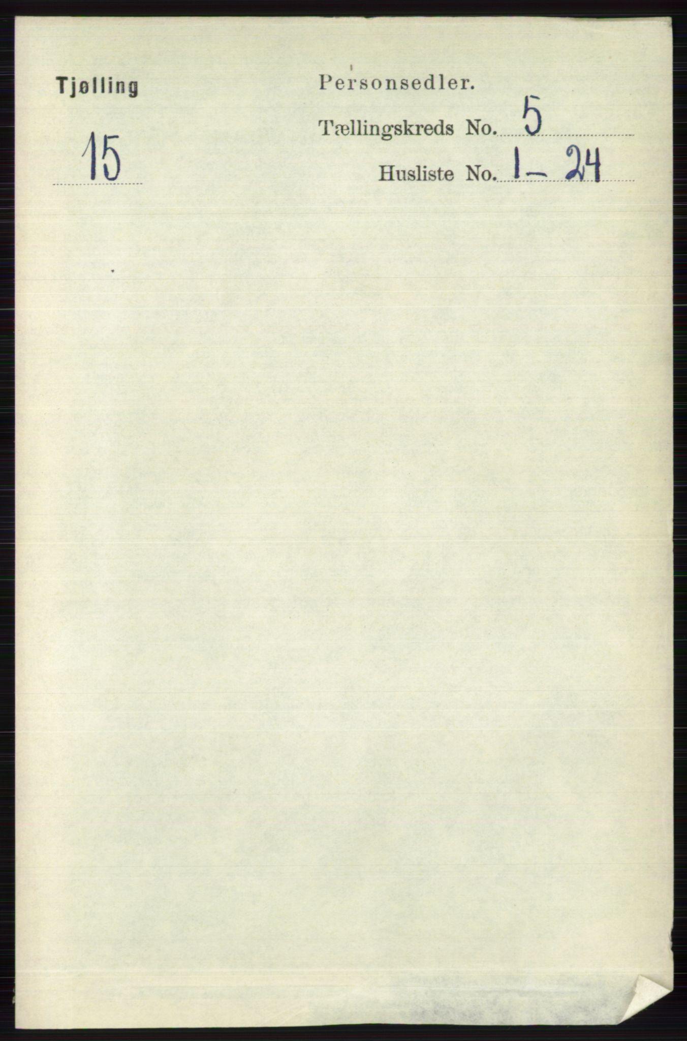 RA, Folketelling 1891 for 0725 Tjølling herred, 1891, s. 1971