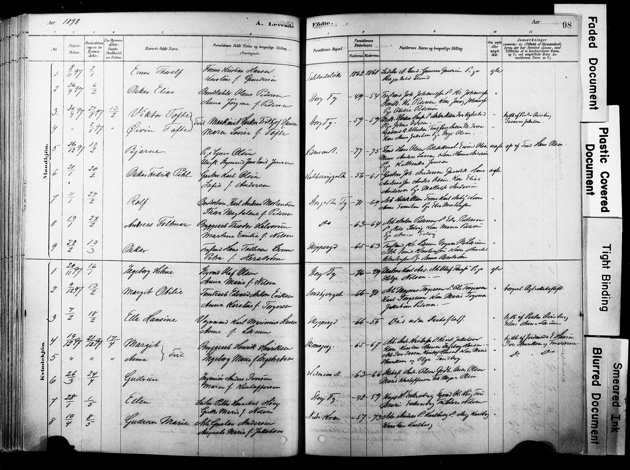 SAKO, Strømsø kirkebøker, F/Fb/L0006: Ministerialbok nr. II 6, 1879-1910, s. 98
