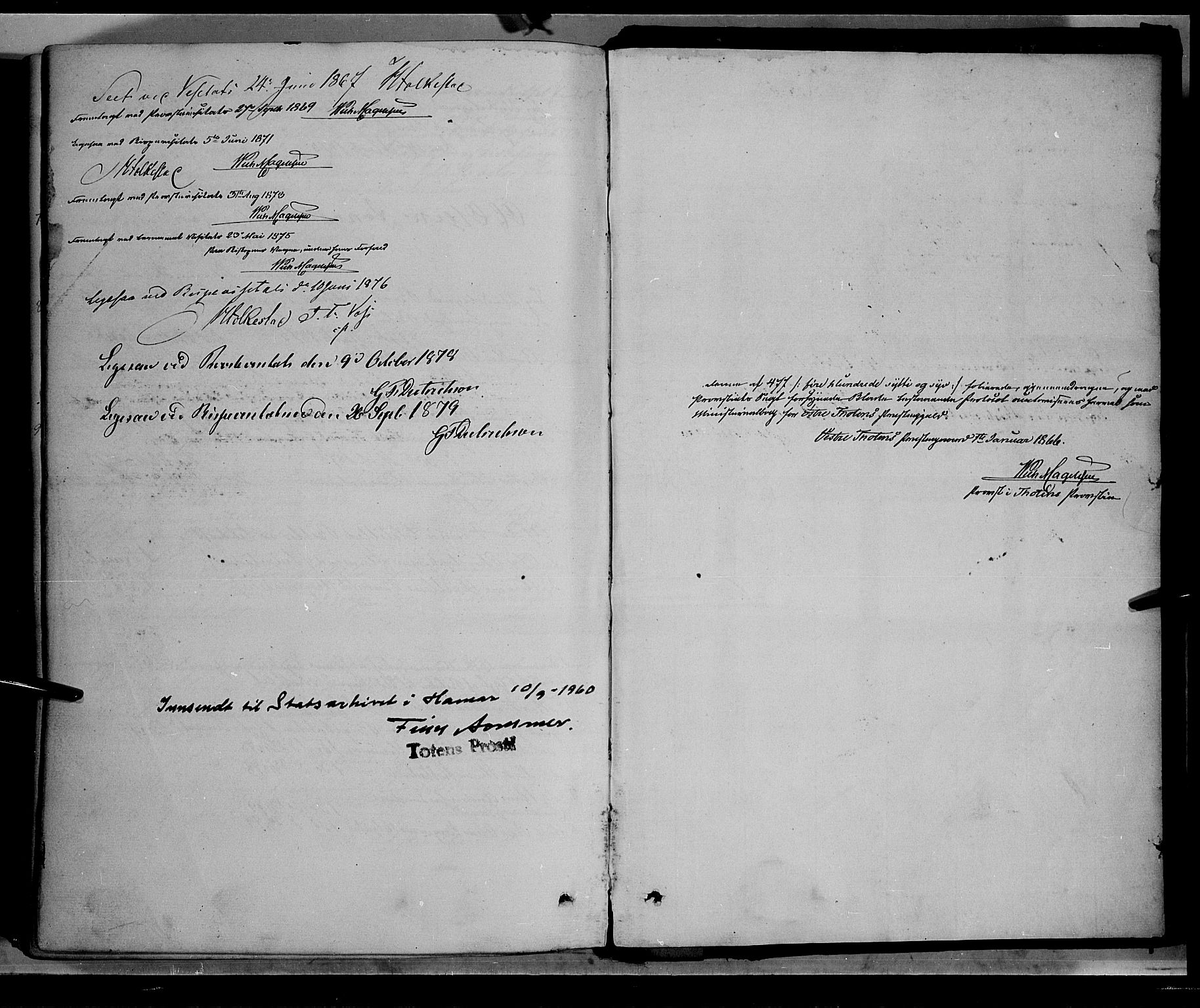 SAH, Østre Toten prestekontor, Ministerialbok nr. 5, 1866-1877