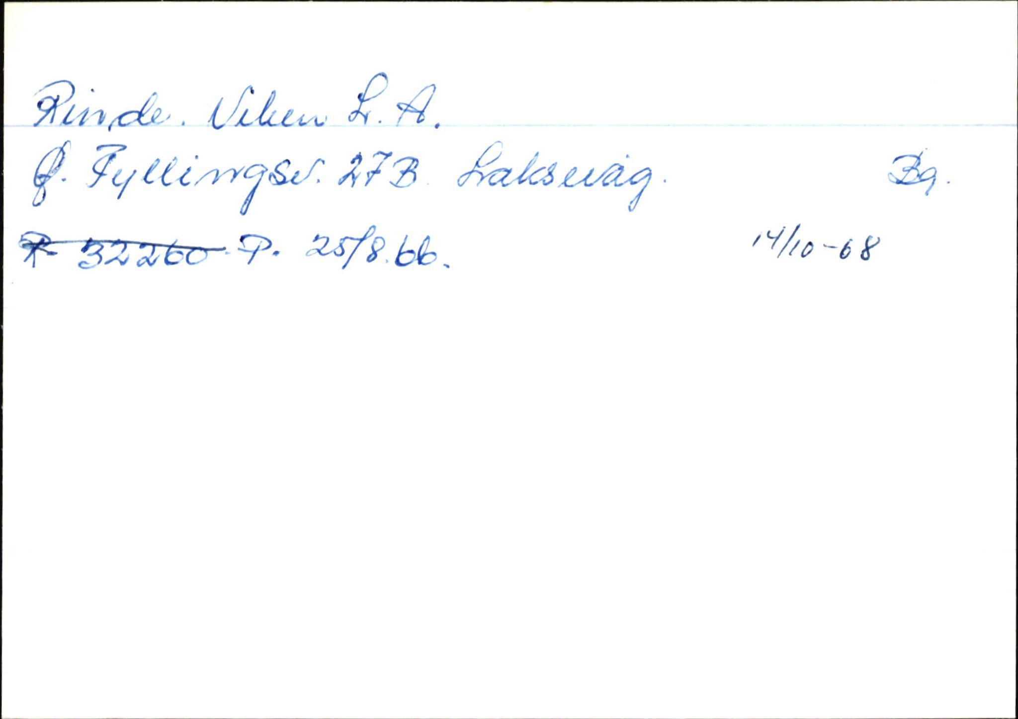 SAB, Statens vegvesen, Hordaland vegkontor, Ha/L0045: R-eierkort R, 1920-1971, s. 1