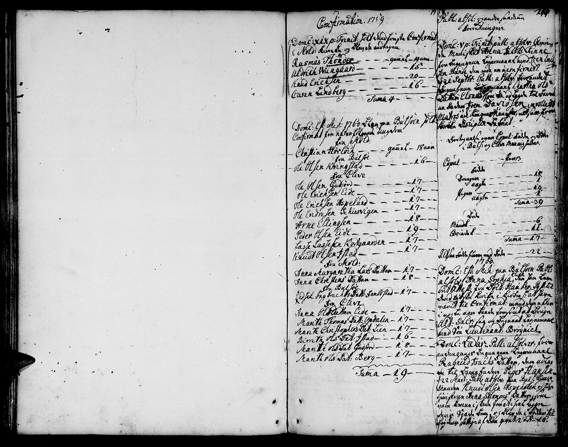 SAT, Ministerialprotokoller, klokkerbøker og fødselsregistre - Møre og Romsdal, 555/L0648: Ministerialbok nr. 555A01, 1759-1793, s. 144