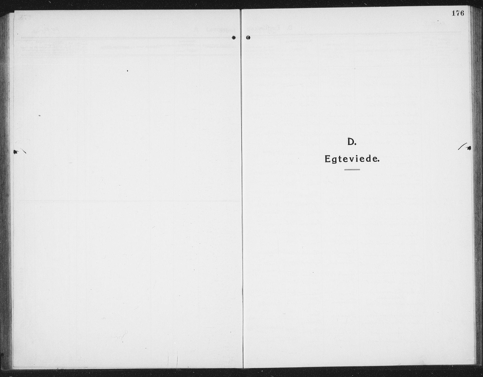 SAT, Ministerialprotokoller, klokkerbøker og fødselsregistre - Sør-Trøndelag, 695/L1158: Klokkerbok nr. 695C09, 1913-1940, s. 176
