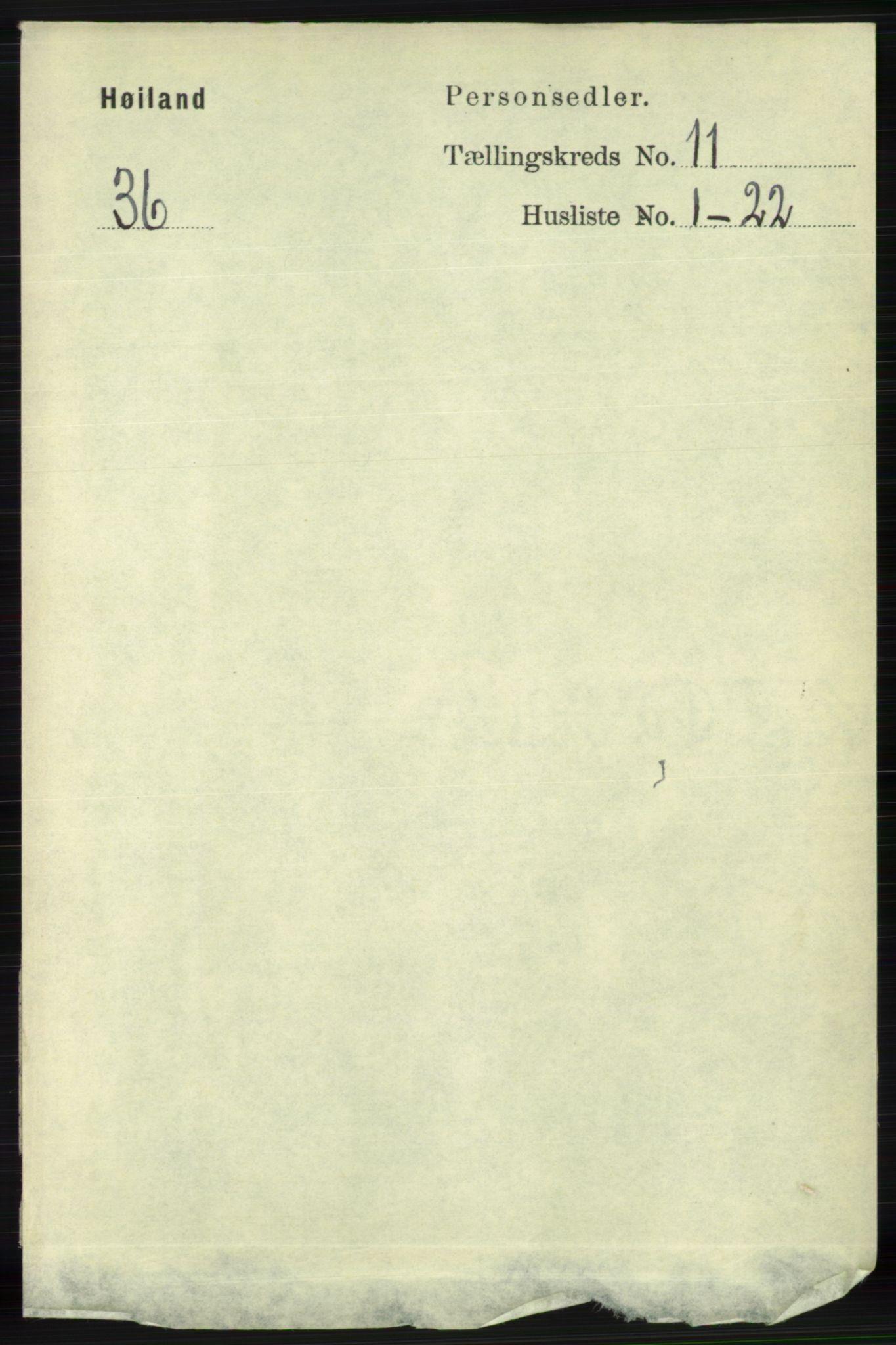 RA, Folketelling 1891 for 1123 Høyland herred, 1891, s. 4464