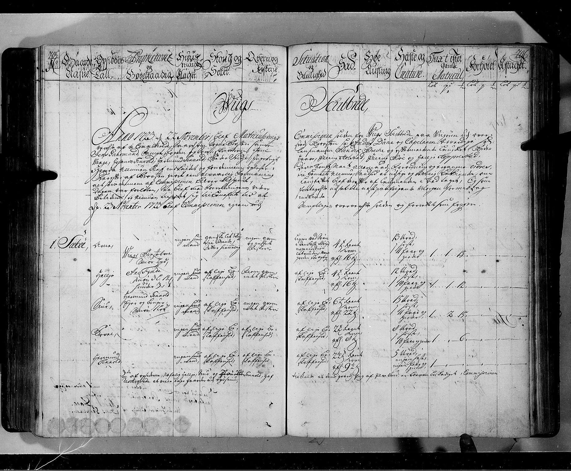 RA, Rentekammeret inntil 1814, Realistisk ordnet avdeling, N/Nb/Nbf/L0143: Ytre og Indre Sogn eksaminasjonsprotokoll, 1723, s. 205-206