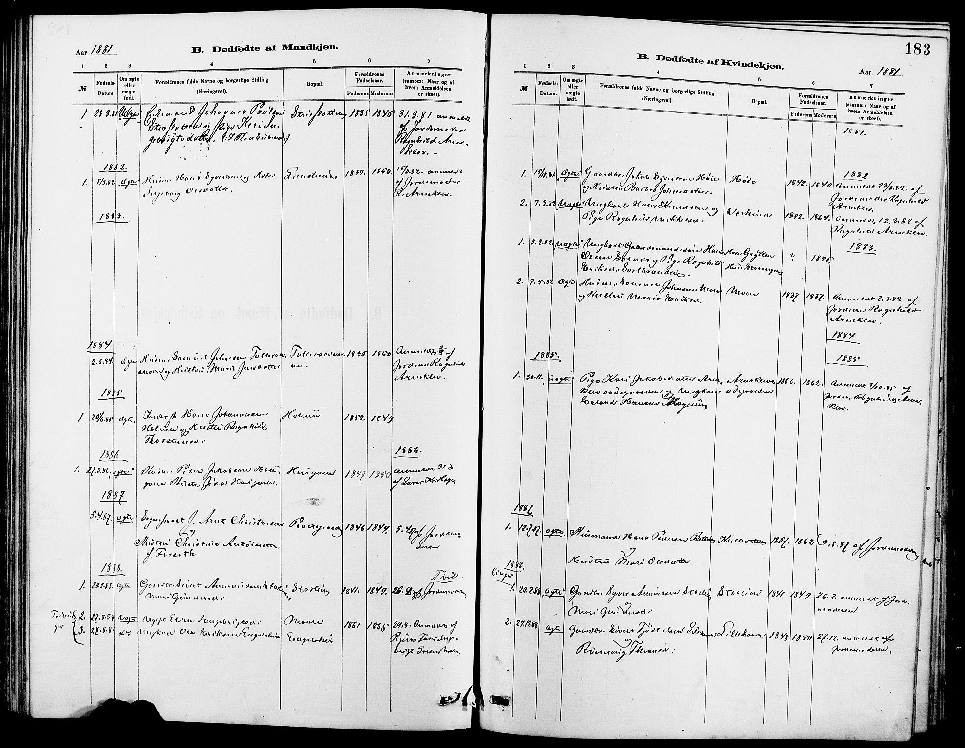 SAH, Dovre prestekontor, Klokkerbok nr. 2, 1881-1907, s. 183