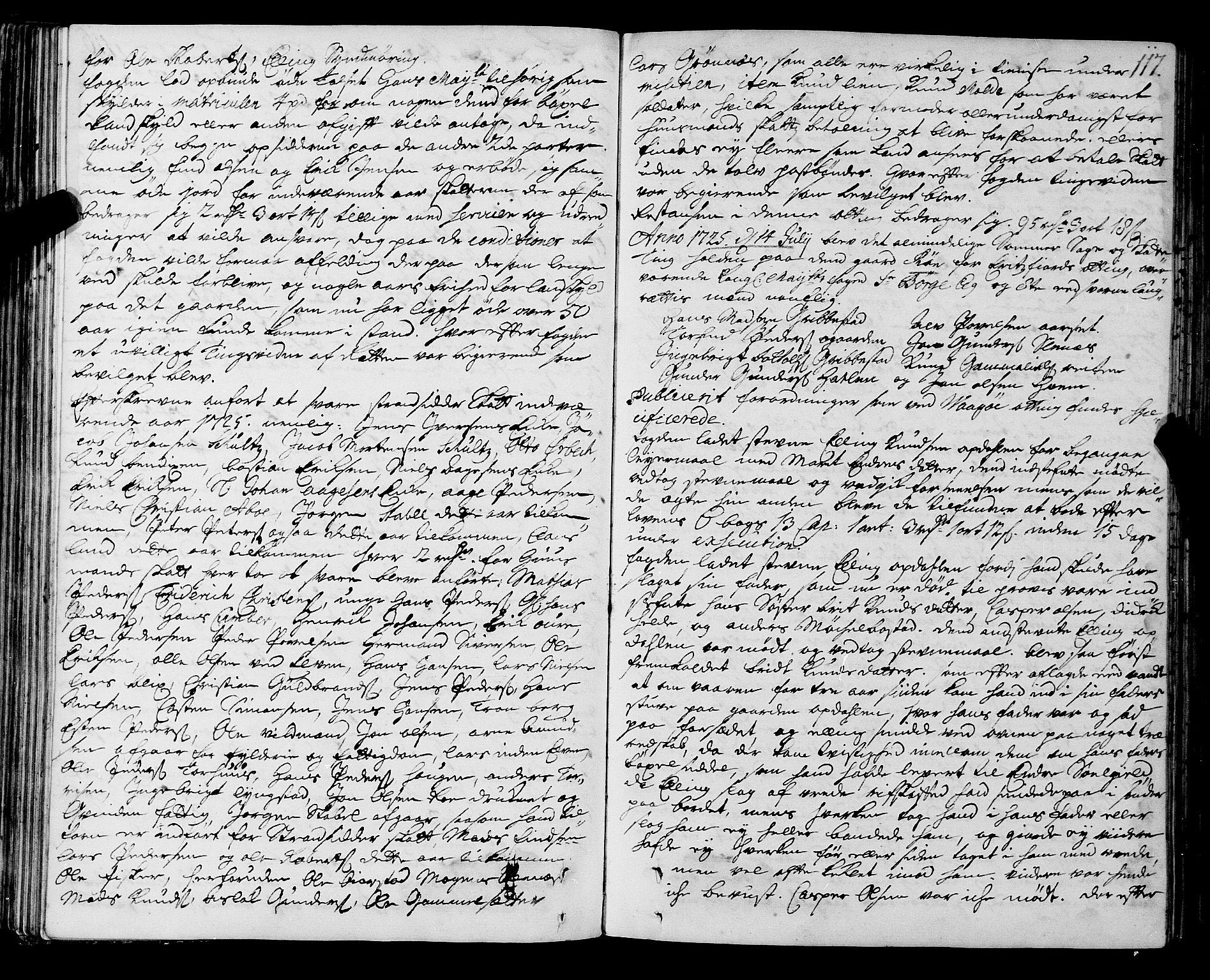 SAT, Romsdal sorenskriveri, 1/1A/L0009: Tingbok, 1722-1728, s. 116b-117a