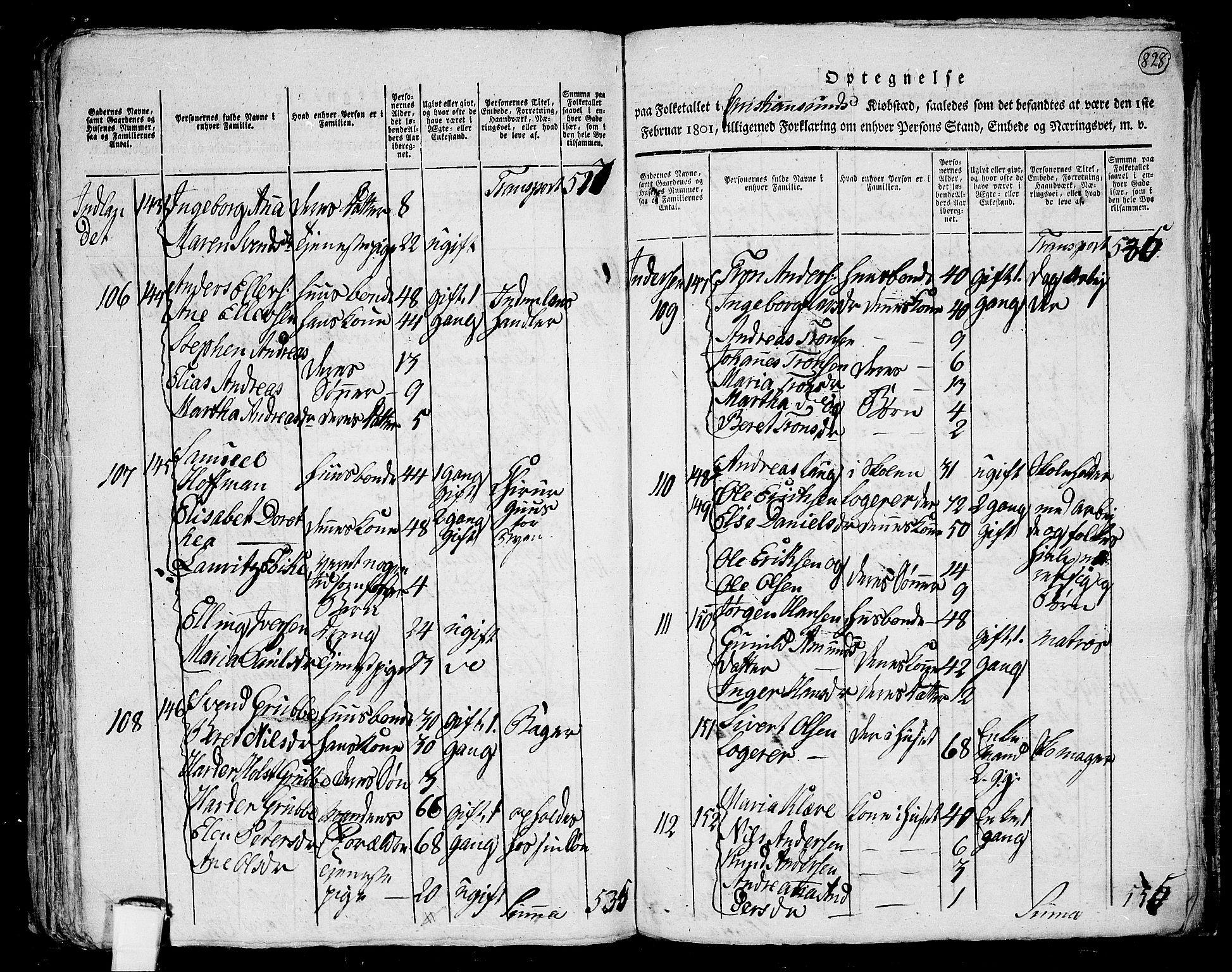RA, Folketelling 1801 for 1553P Kvernes prestegjeld, 1801, s. 827b-828a