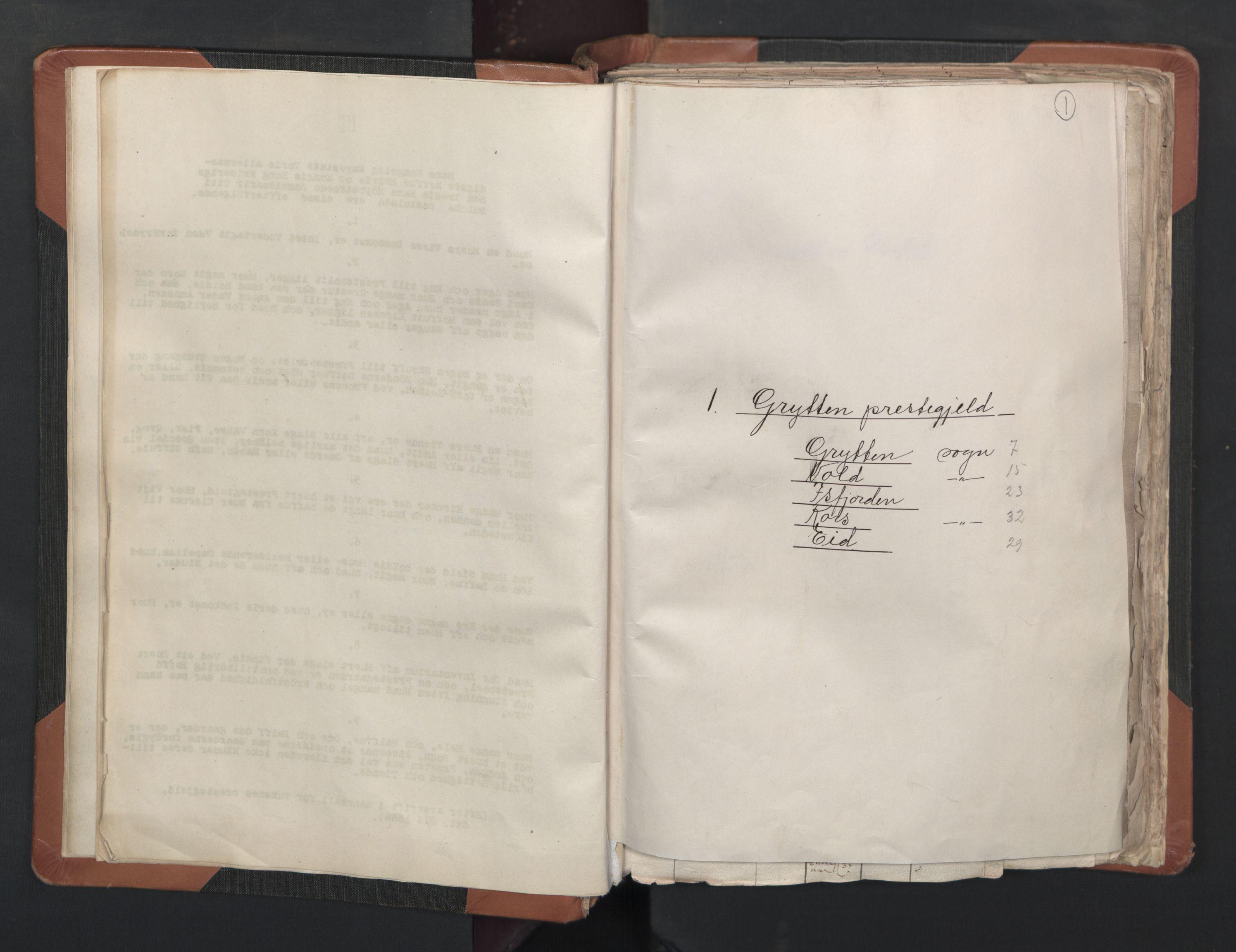 RA, Sogneprestenes manntall 1664-1666, nr. 27: Romsdal prosti, 1664-1666, s. 1