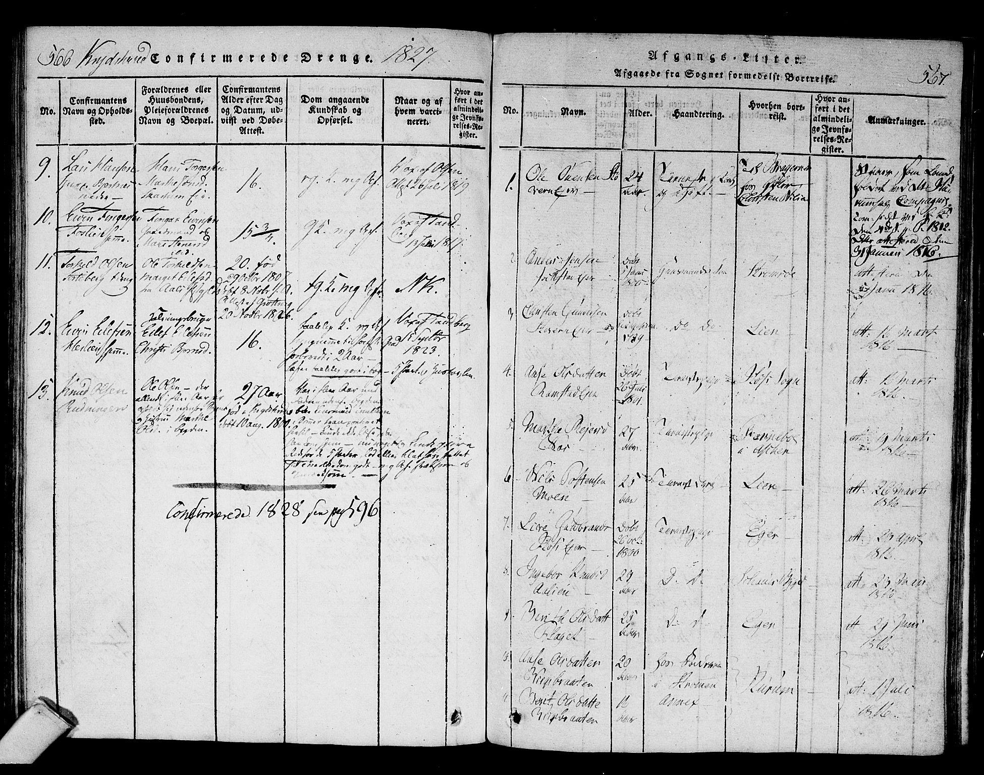 SAKO, Sigdal kirkebøker, F/Fa/L0005: Ministerialbok nr. I 5 /1, 1815-1829, s. 566-567
