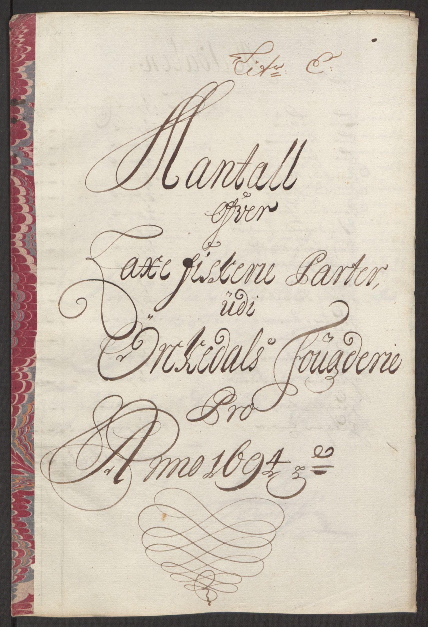 RA, Rentekammeret inntil 1814, Reviderte regnskaper, Fogderegnskap, R60/L3944: Fogderegnskap Orkdal og Gauldal, 1694, s. 83
