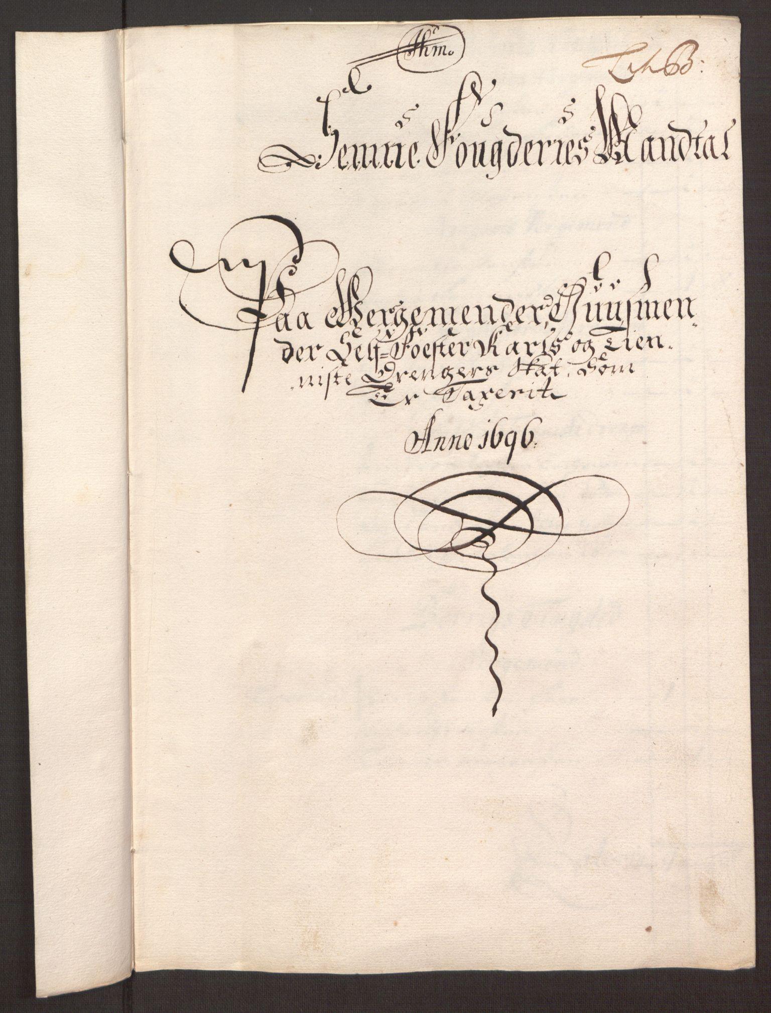 RA, Rentekammeret inntil 1814, Reviderte regnskaper, Fogderegnskap, R68/L4753: Fogderegnskap Senja og Troms, 1694-1696, s. 259