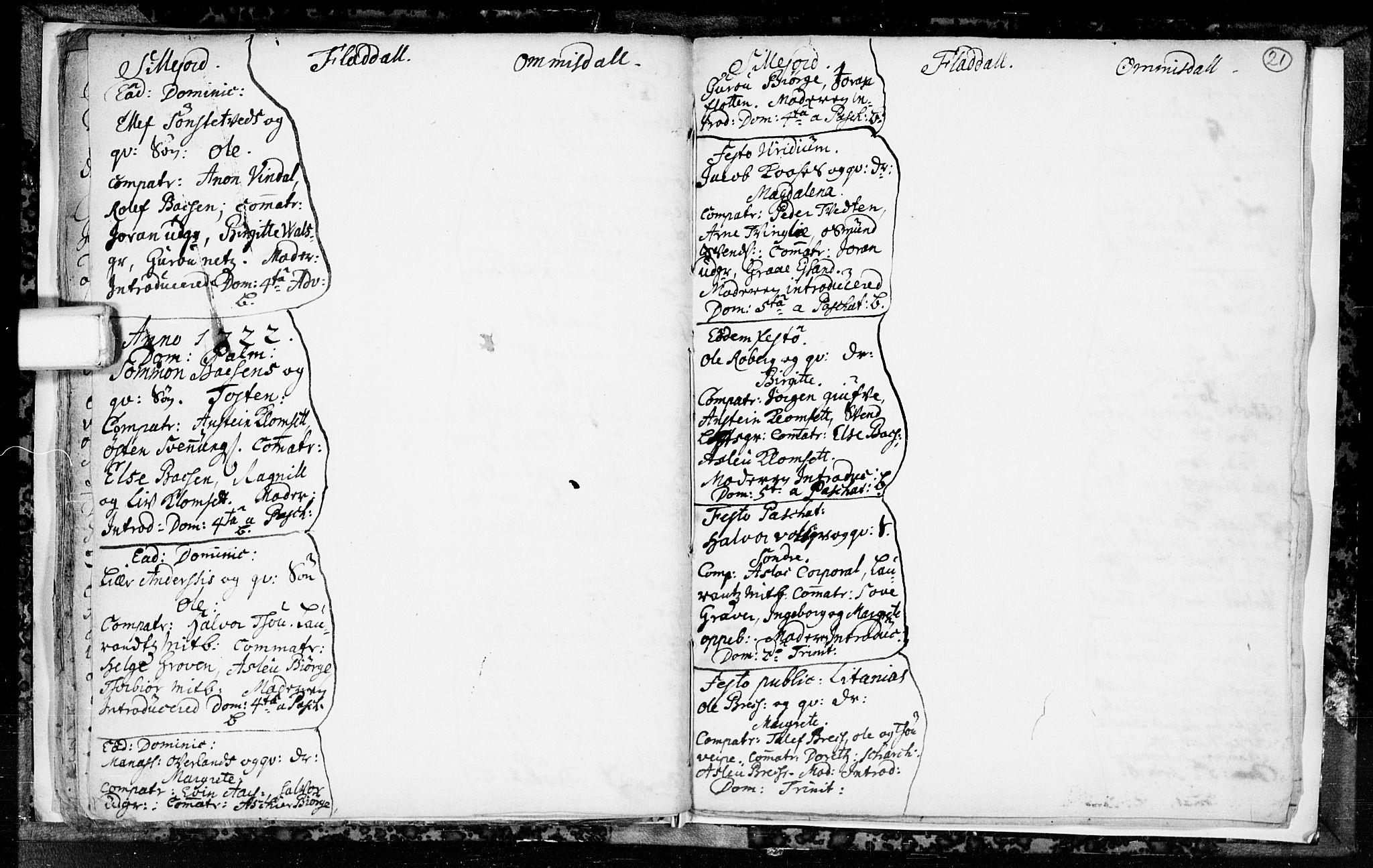 SAKO, Seljord kirkebøker, F/Fa/L0003: Ministerialbok nr. I 3, 1714-1725, s. 21