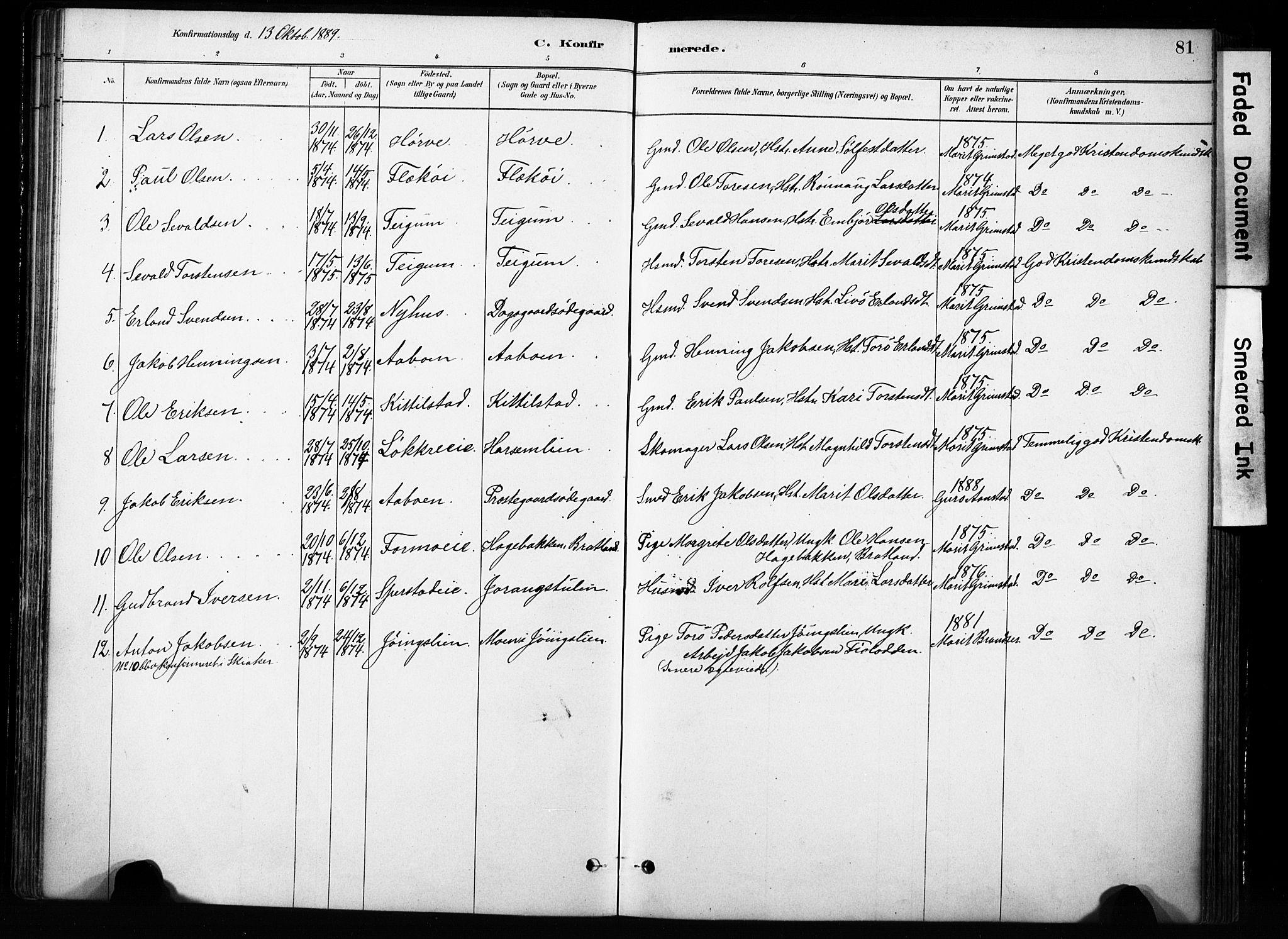 SAH, Skjåk prestekontor, Ministerialbok nr. 4, 1880-1904, s. 81