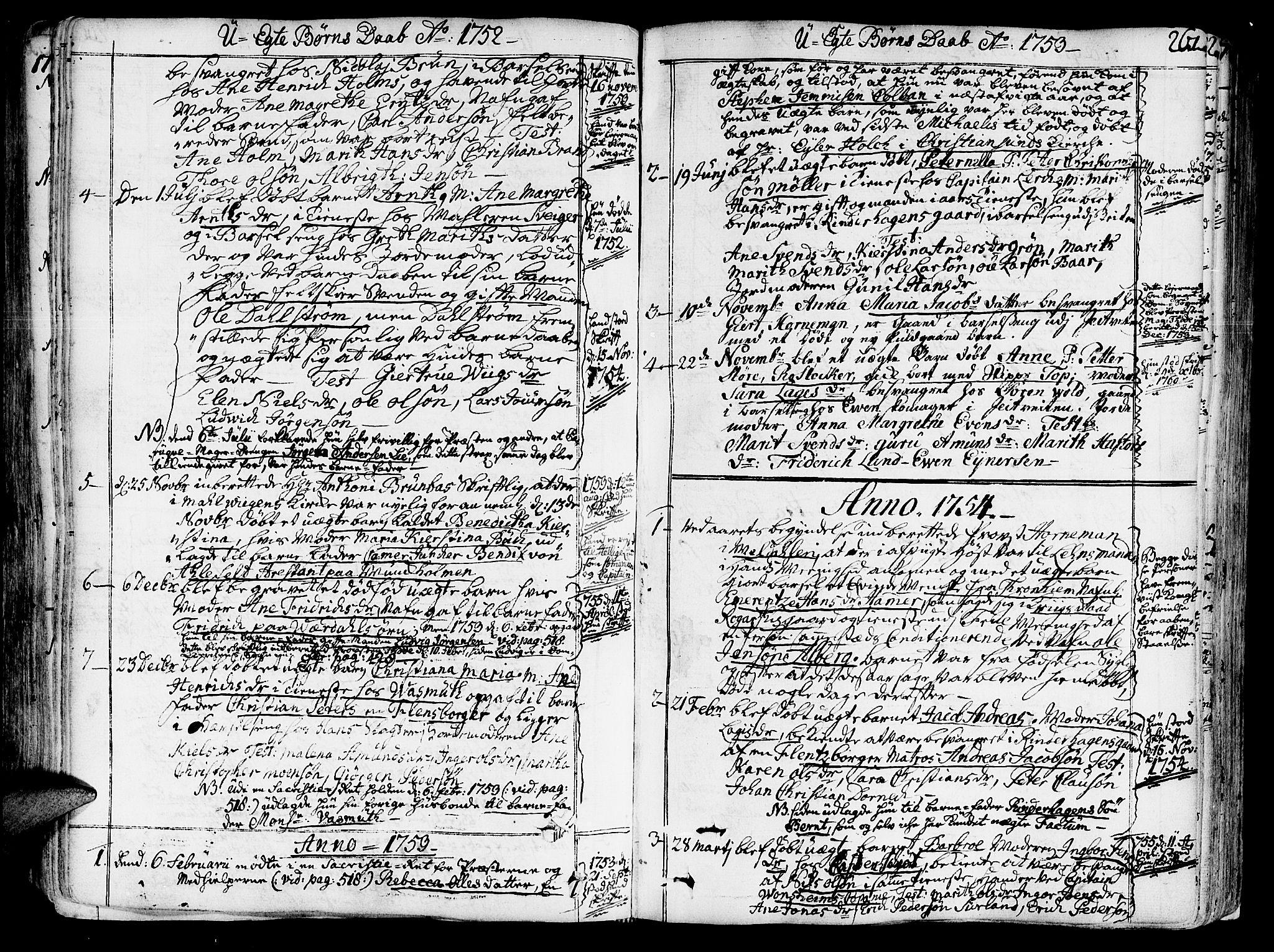 SAT, Ministerialprotokoller, klokkerbøker og fødselsregistre - Sør-Trøndelag, 602/L0103: Ministerialbok nr. 602A01, 1732-1774, s. 261