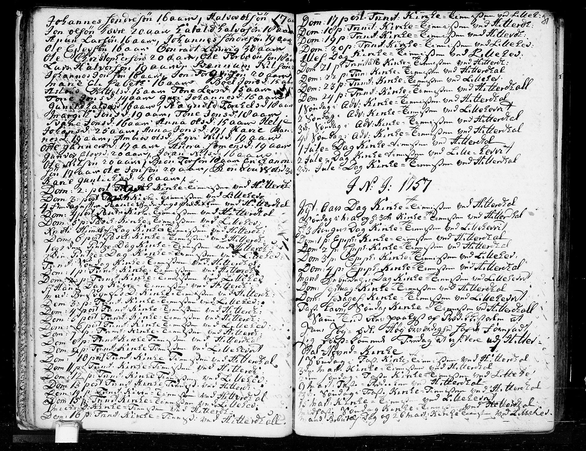 SAKO, Heddal kirkebøker, F/Fa/L0003: Ministerialbok nr. I 3, 1723-1783, s. 31