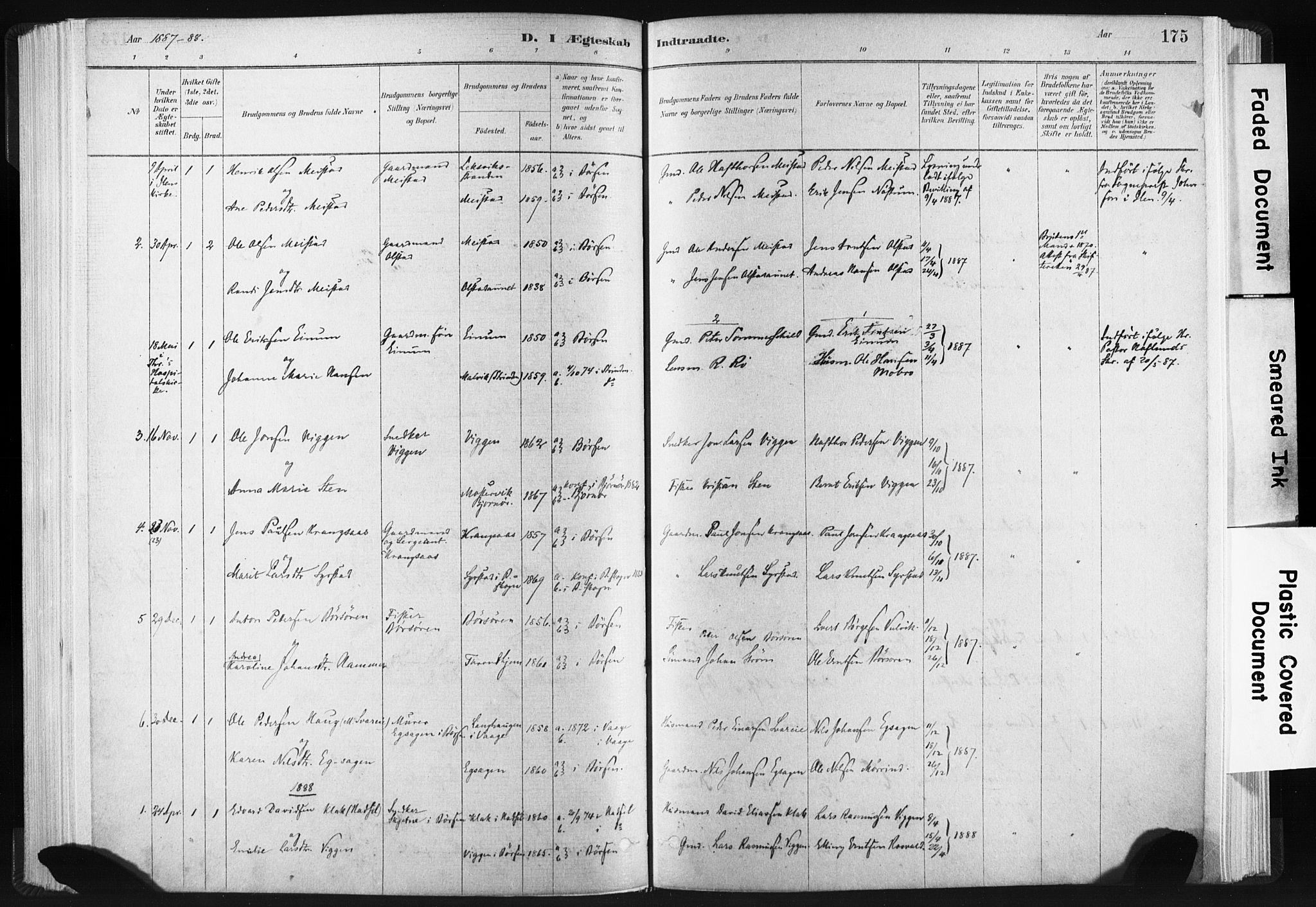 SAT, Ministerialprotokoller, klokkerbøker og fødselsregistre - Sør-Trøndelag, 665/L0773: Ministerialbok nr. 665A08, 1879-1905, s. 175