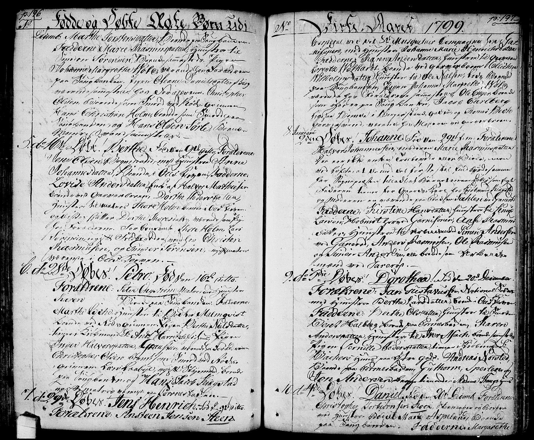 SAO, Halden prestekontor Kirkebøker, F/Fa/L0002: Ministerialbok nr. I 2, 1792-1812, s. 196-197