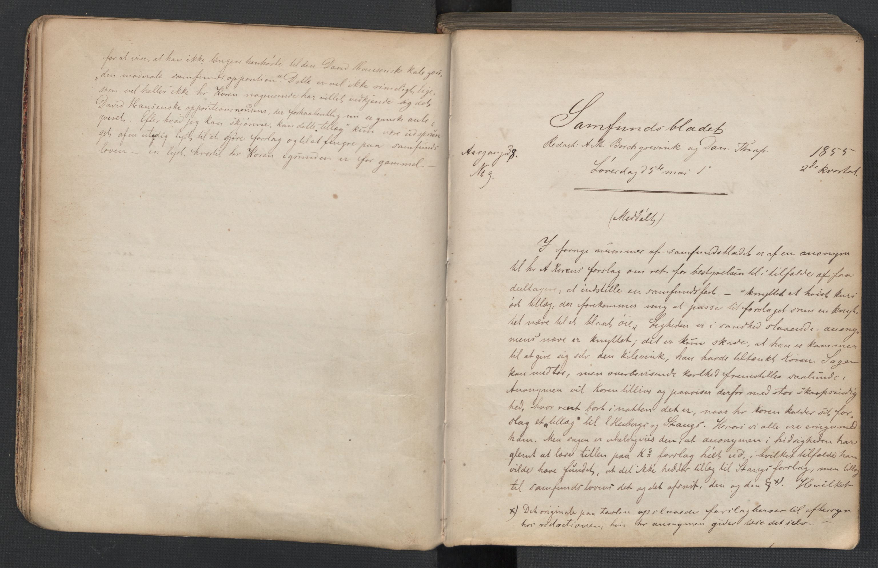 RA, Det Norske Studentersamfund, X/Xa/L0005, 1855-1856, s. 19