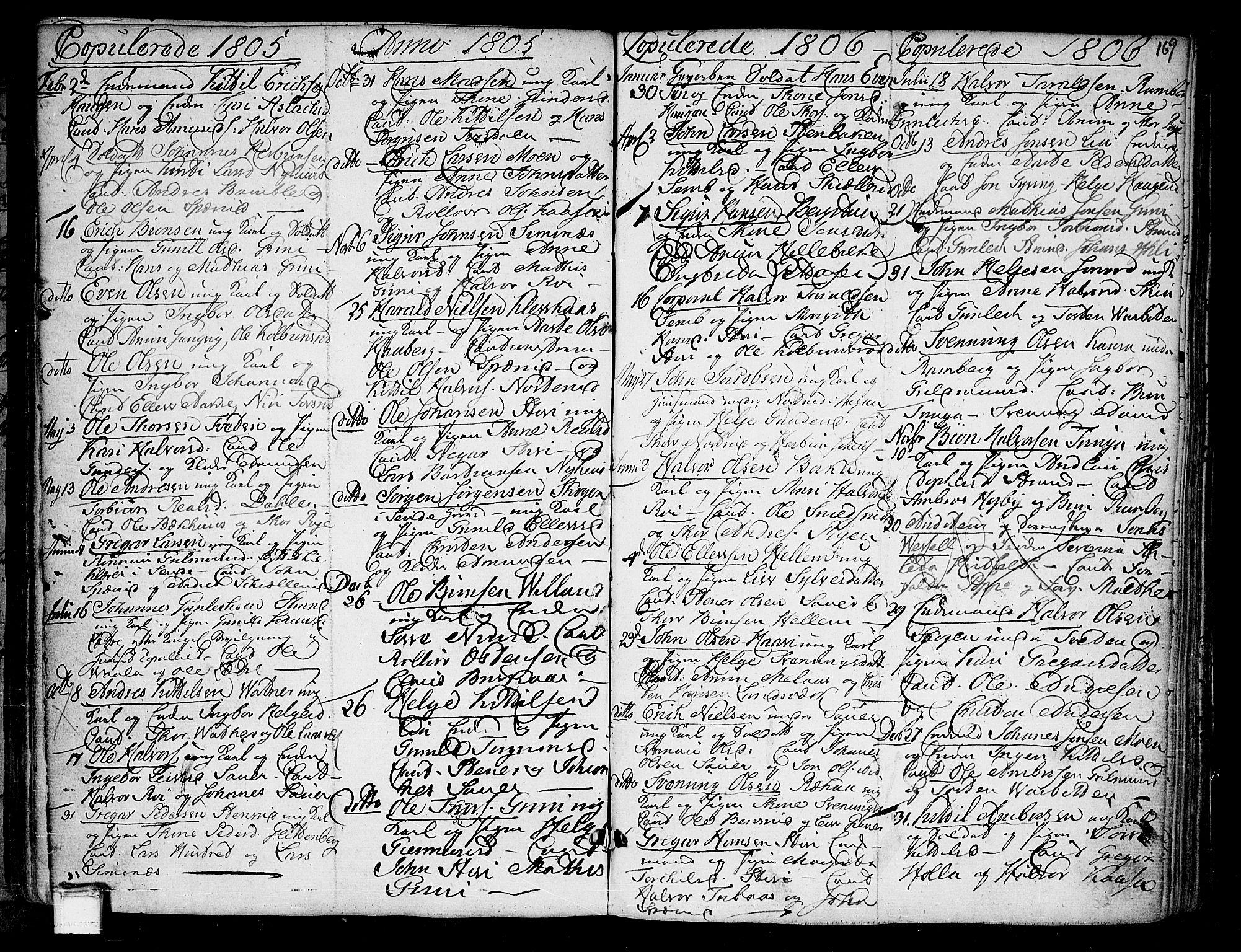 SAKO, Heddal kirkebøker, F/Fa/L0004: Ministerialbok nr. I 4, 1784-1814, s. 169