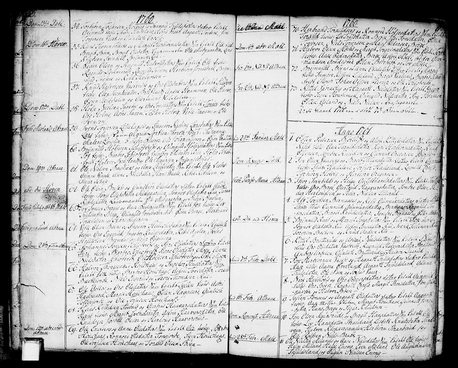 SAKO, Tinn kirkebøker, F/Fa/L0002: Ministerialbok nr. I 2, 1757-1810, s. 16-17
