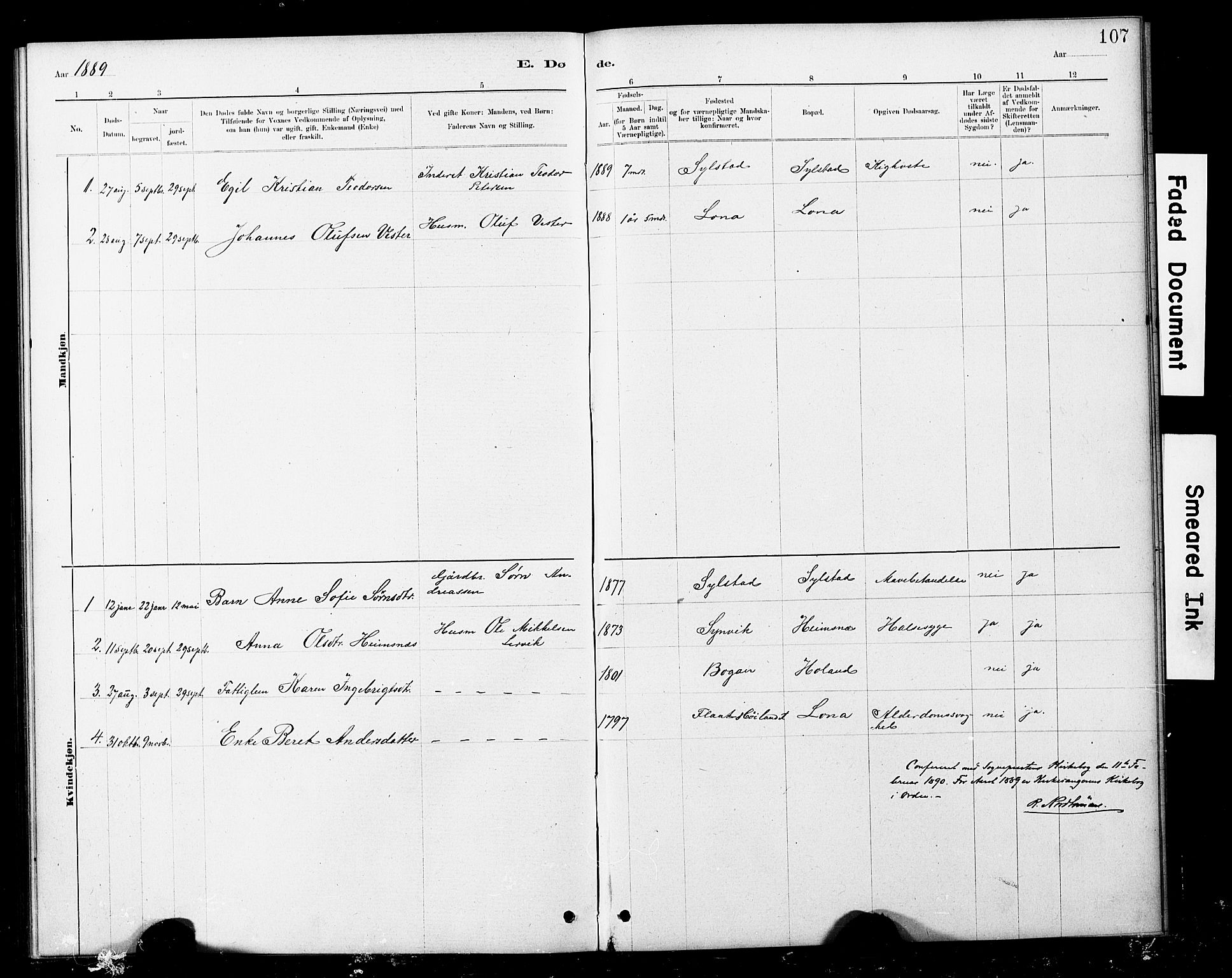 SAT, Ministerialprotokoller, klokkerbøker og fødselsregistre - Nord-Trøndelag, 783/L0661: Klokkerbok nr. 783C01, 1878-1893, s. 107