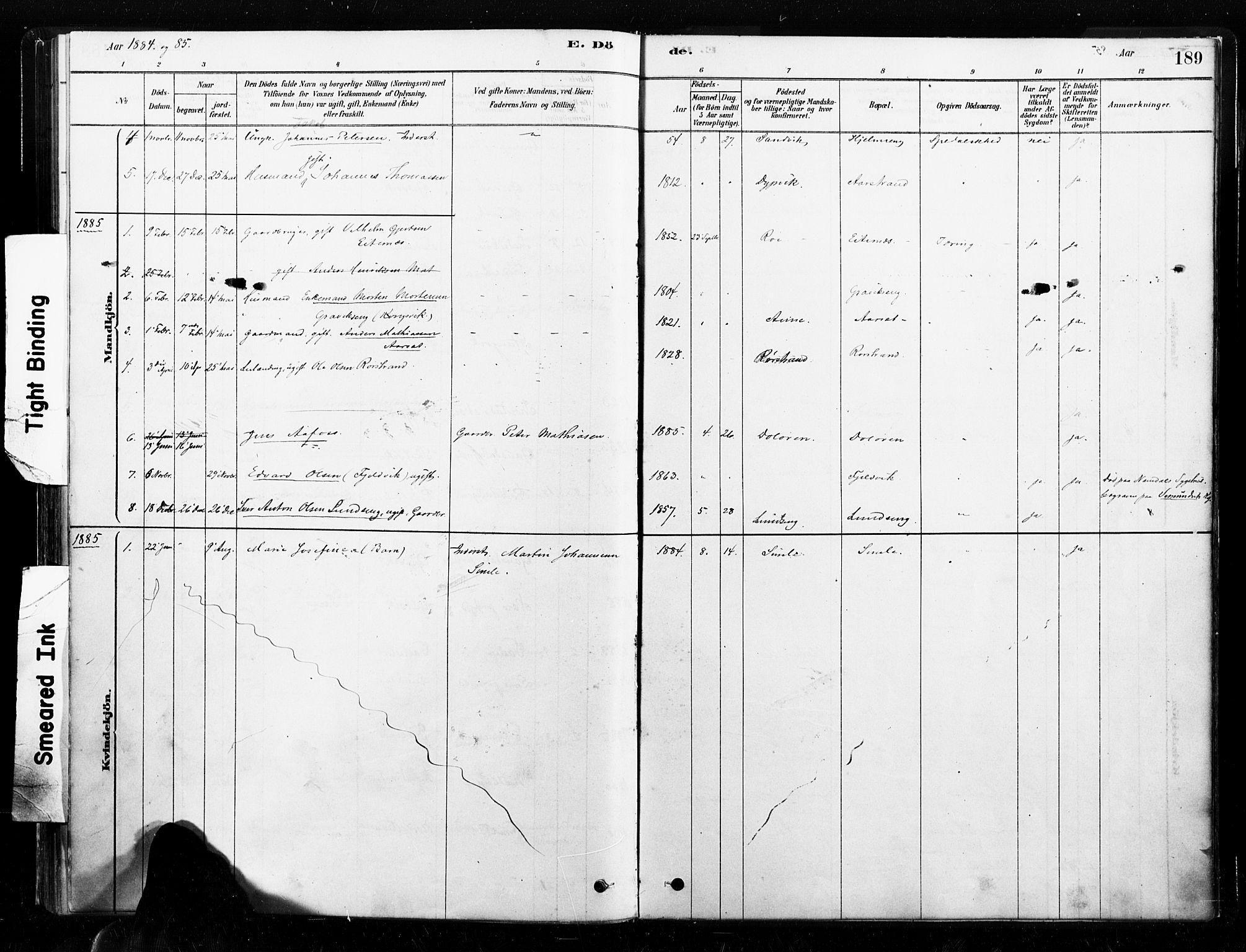SAT, Ministerialprotokoller, klokkerbøker og fødselsregistre - Nord-Trøndelag, 789/L0705: Ministerialbok nr. 789A01, 1878-1910, s. 189