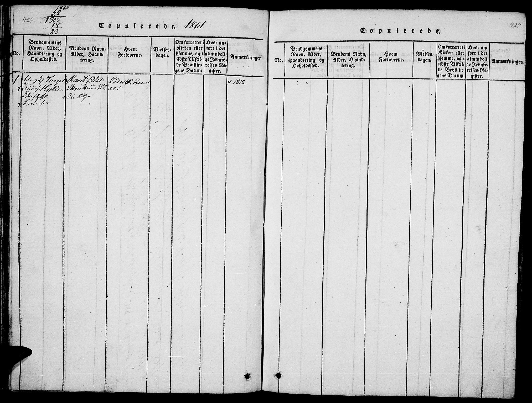 SAH, Ringebu prestekontor, Klokkerbok nr. 1, 1821-1839, s. 426-427