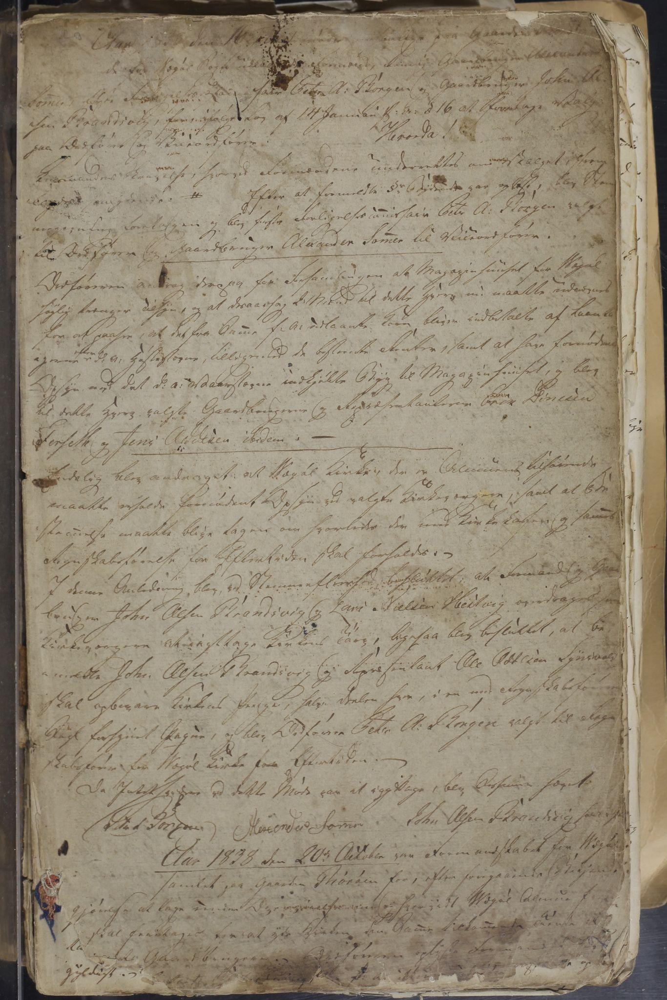 AIN, Vega kommune. Formannskapet, A/L0002: Møtebok, 1837-1885