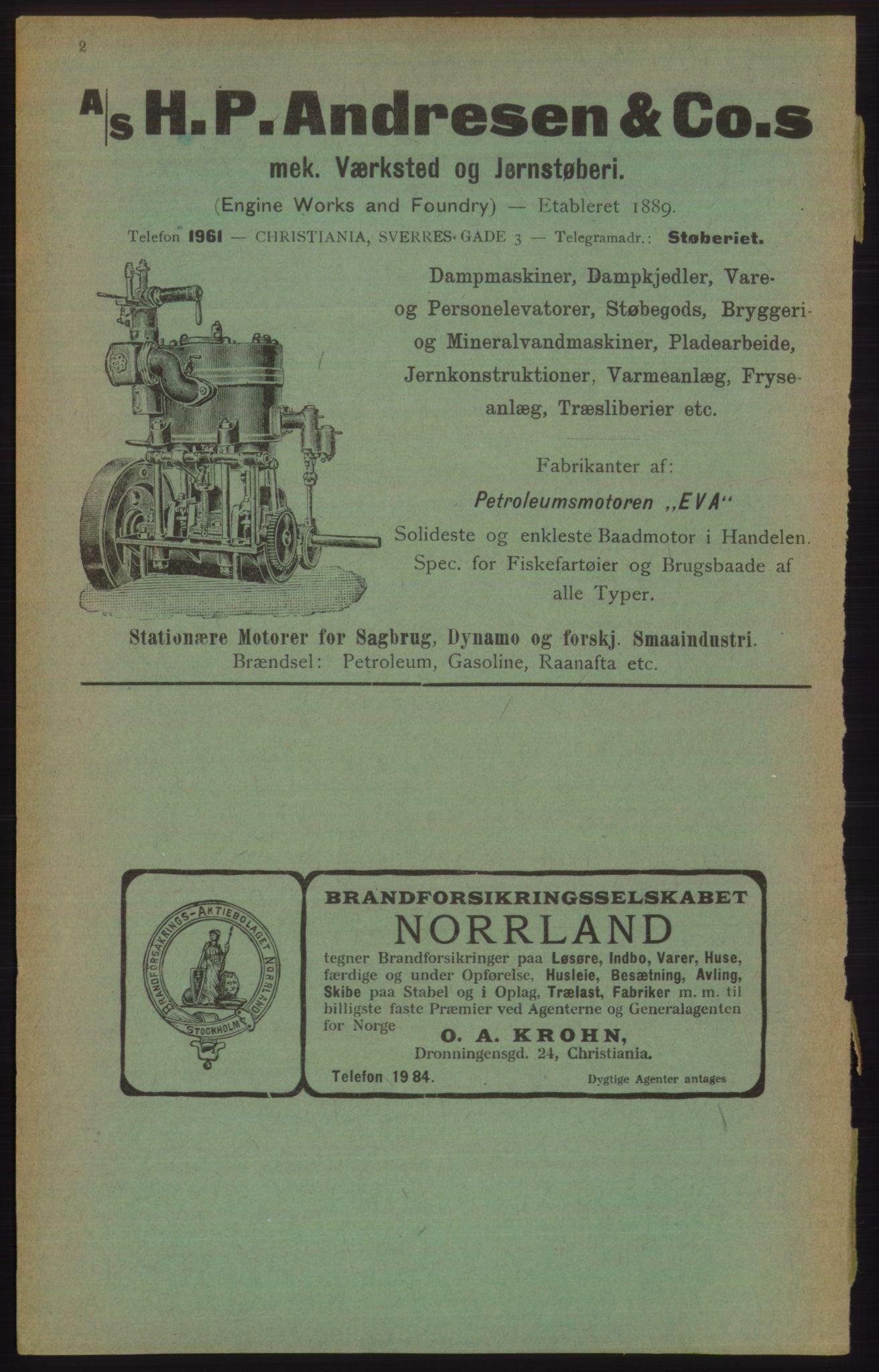 PUBL, Kristiania/Oslo adressebok, 1906, s. 2