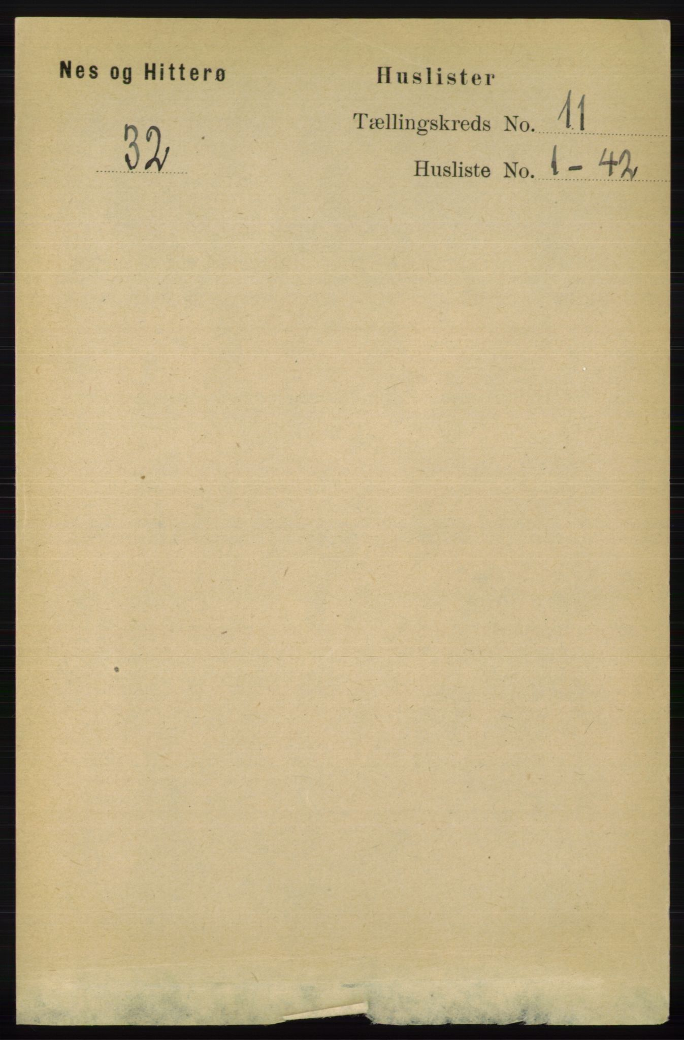 RA, Folketelling 1891 for 1043 Hidra og Nes herred, 1891, s. 4414