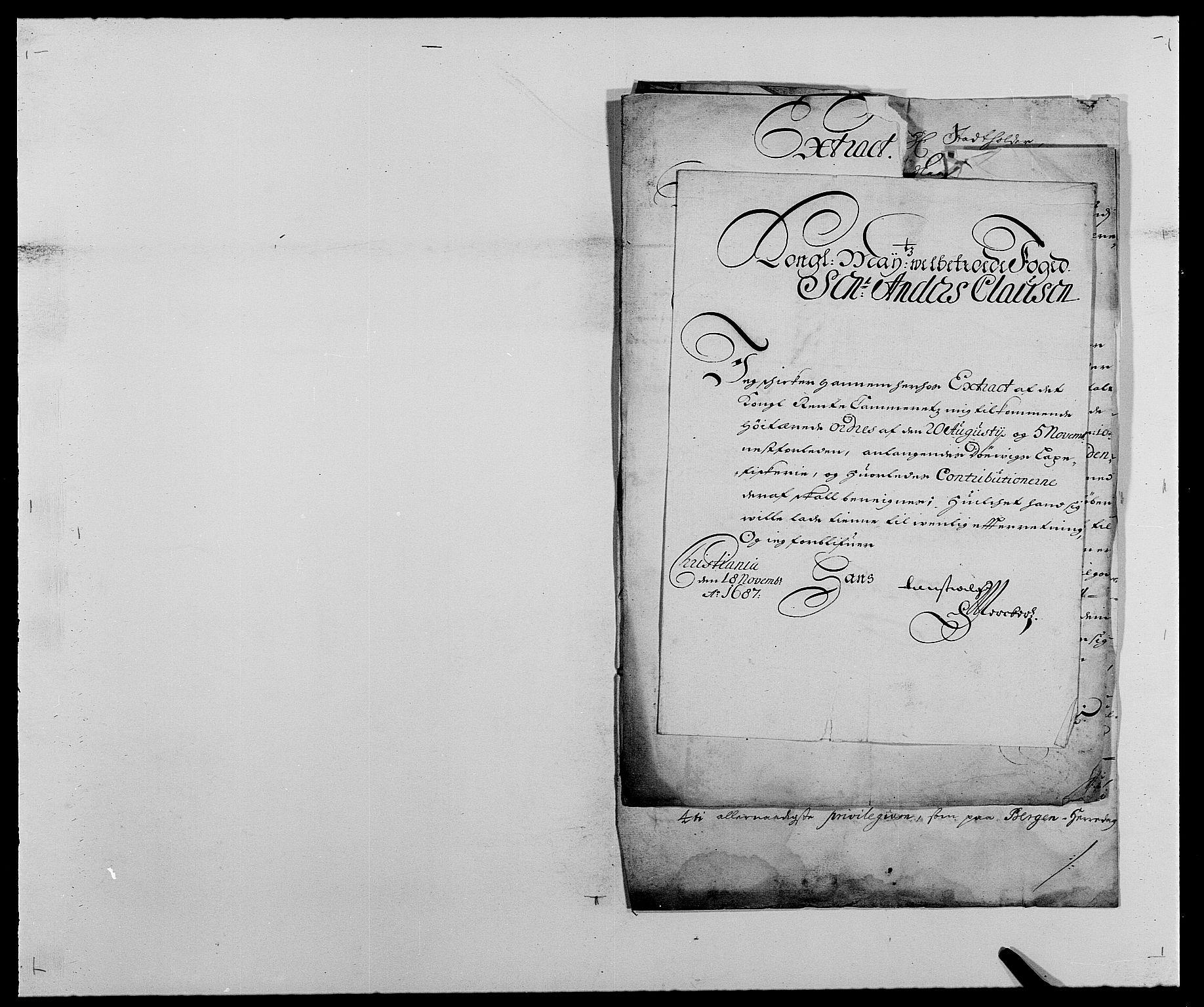 RA, Rentekammeret inntil 1814, Reviderte regnskaper, Fogderegnskap, R25/L1679: Fogderegnskap Buskerud, 1687-1688, s. 238