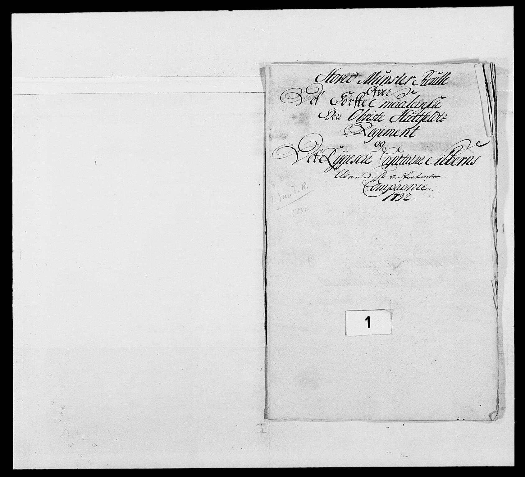 RA, Kommanderende general (KG I) med Det norske krigsdirektorium, E/Ea/L0495: 1. Smålenske regiment, 1732-1763, s. 10