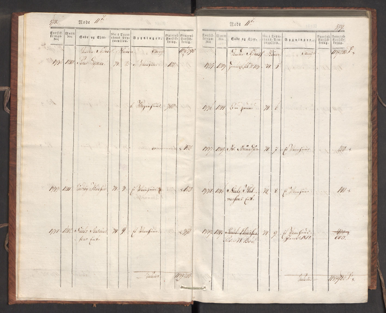 RA, Kommersekollegiet, Brannforsikringskontoret 1767-1814, F/Fa/L0007: Bergen, 1807-1817, s. 578-579