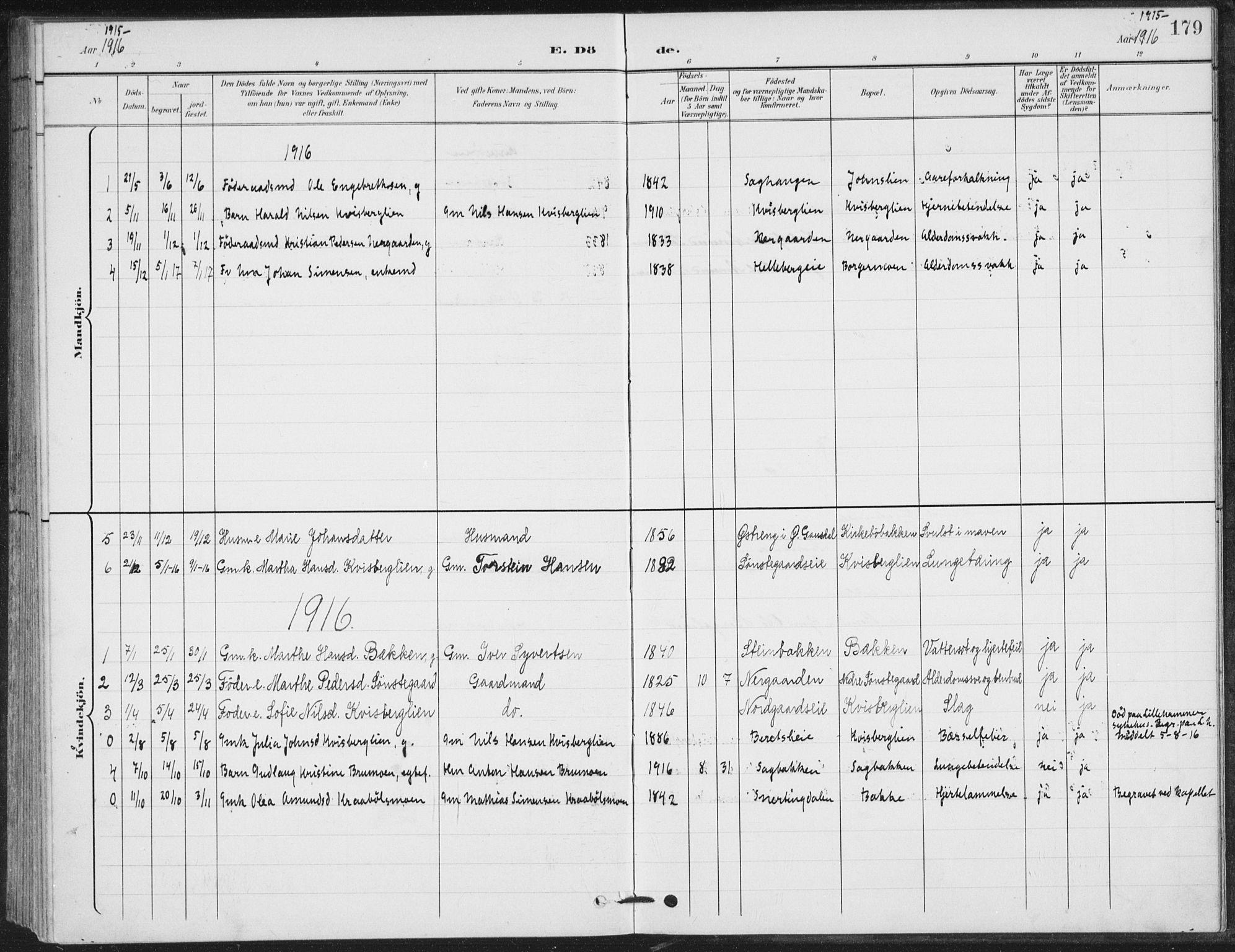 SAH, Vestre Gausdal prestekontor, Klokkerbok nr. 4, 1898-1939, s. 179