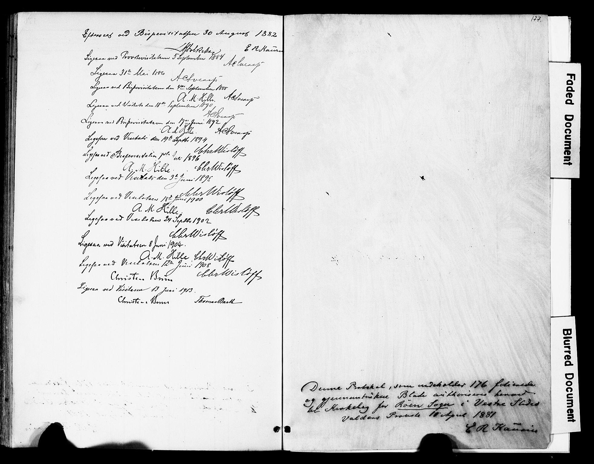 SAH, Vestre Slidre prestekontor, Ministerialbok nr. 6, 1881-1912, s. 177