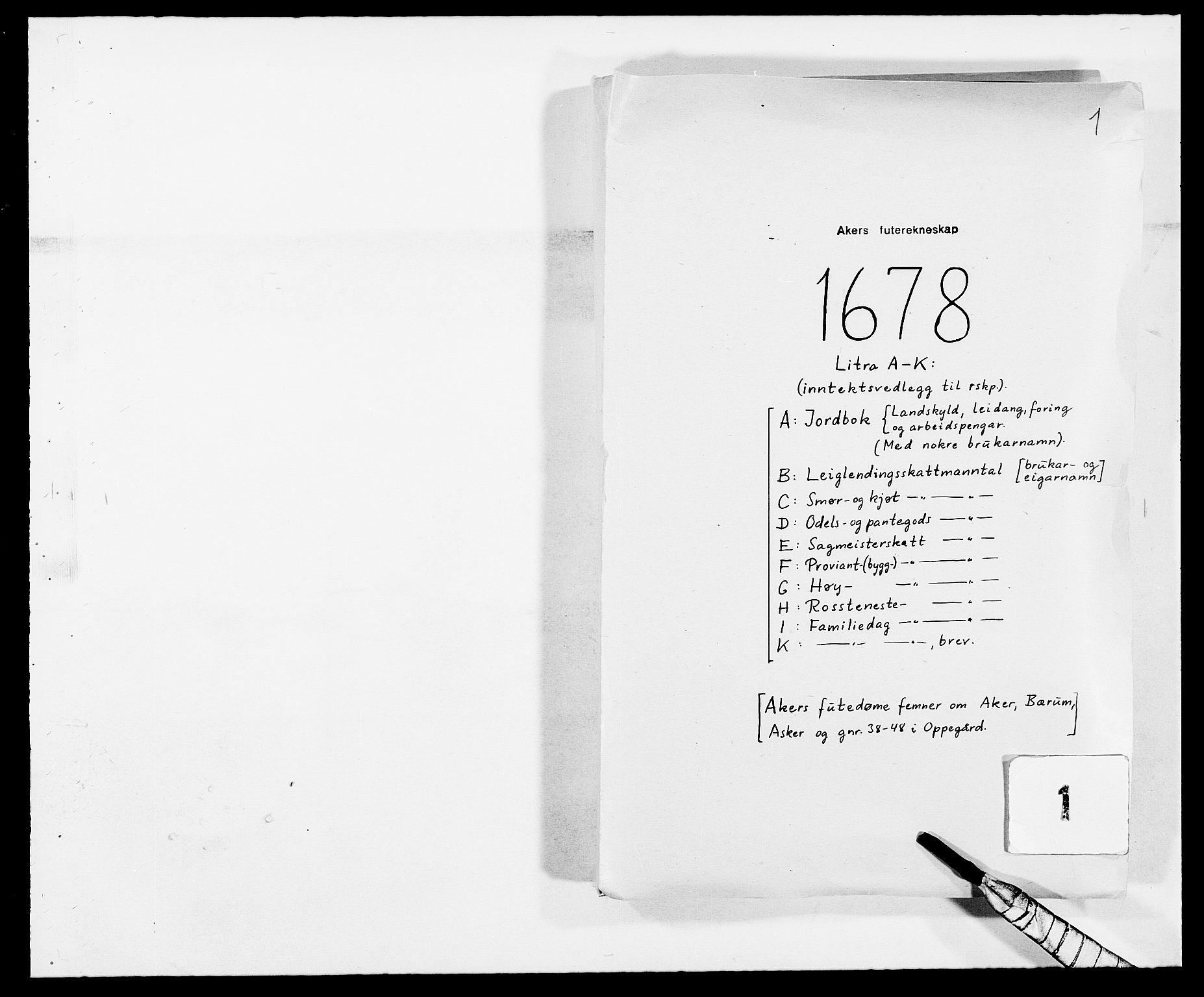 RA, Rentekammeret inntil 1814, Reviderte regnskaper, Fogderegnskap, R08/L0416: Fogderegnskap Aker, 1678-1681, s. 159
