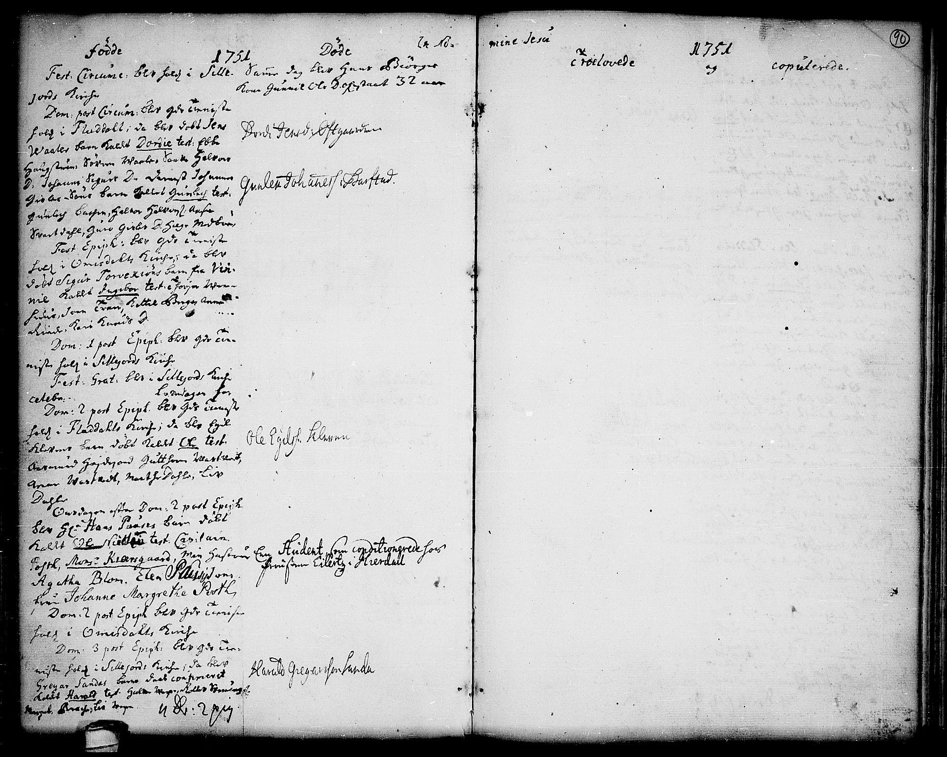 SAKO, Seljord kirkebøker, F/Fa/L0006: Ministerialbok nr. I 6, 1744-1755, s. 90