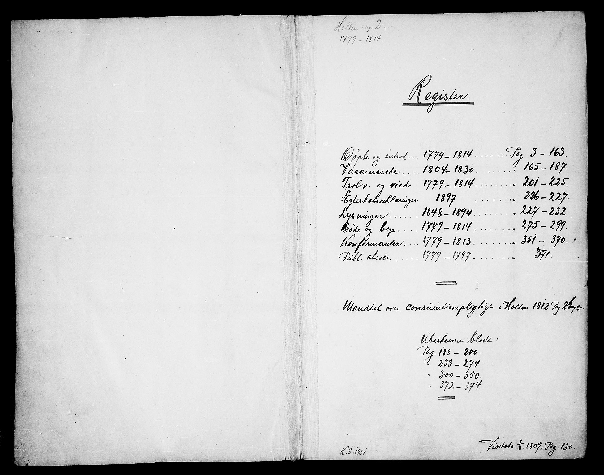 SAKO, Holla kirkebøker, F/Fa/L0002: Ministerialbok nr. 2, 1779-1814