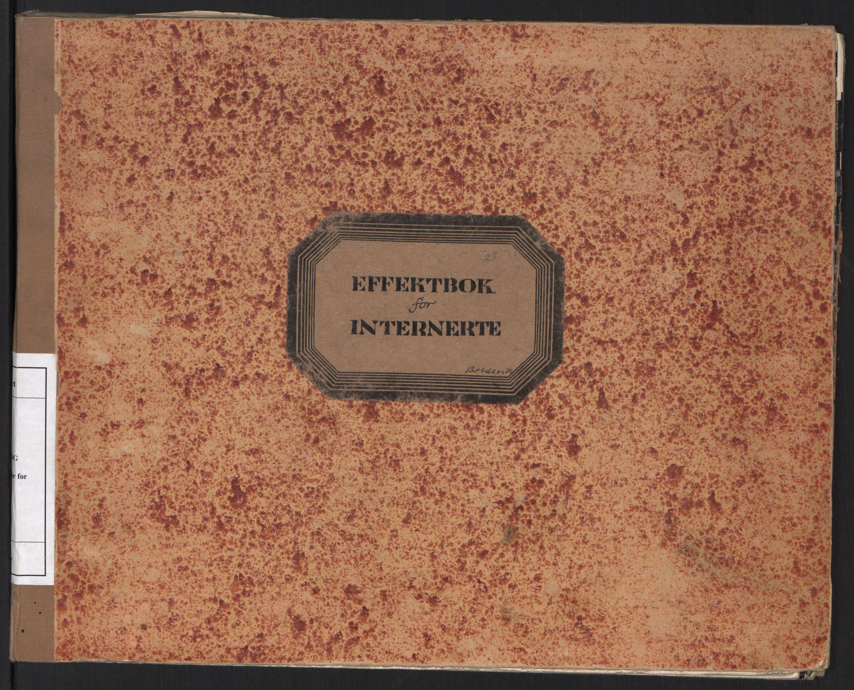 RA, Statspolitiet - Hovedkontoret / Osloavdelingen, C/Cl/L0017: Effektbok for internerte, 1941-1945