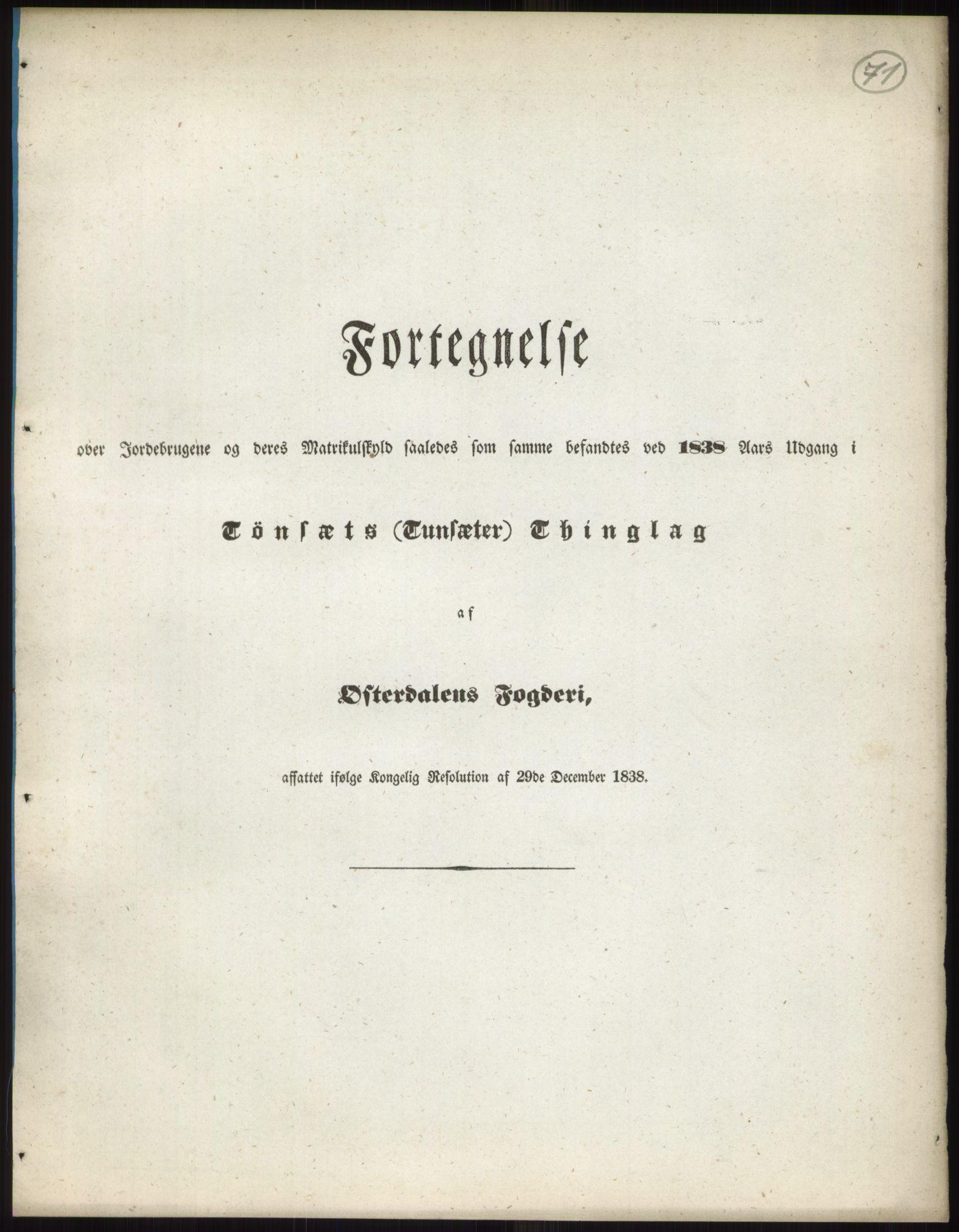RA, 1838-matrikkelen (publikasjon)*, 1838, s. 71