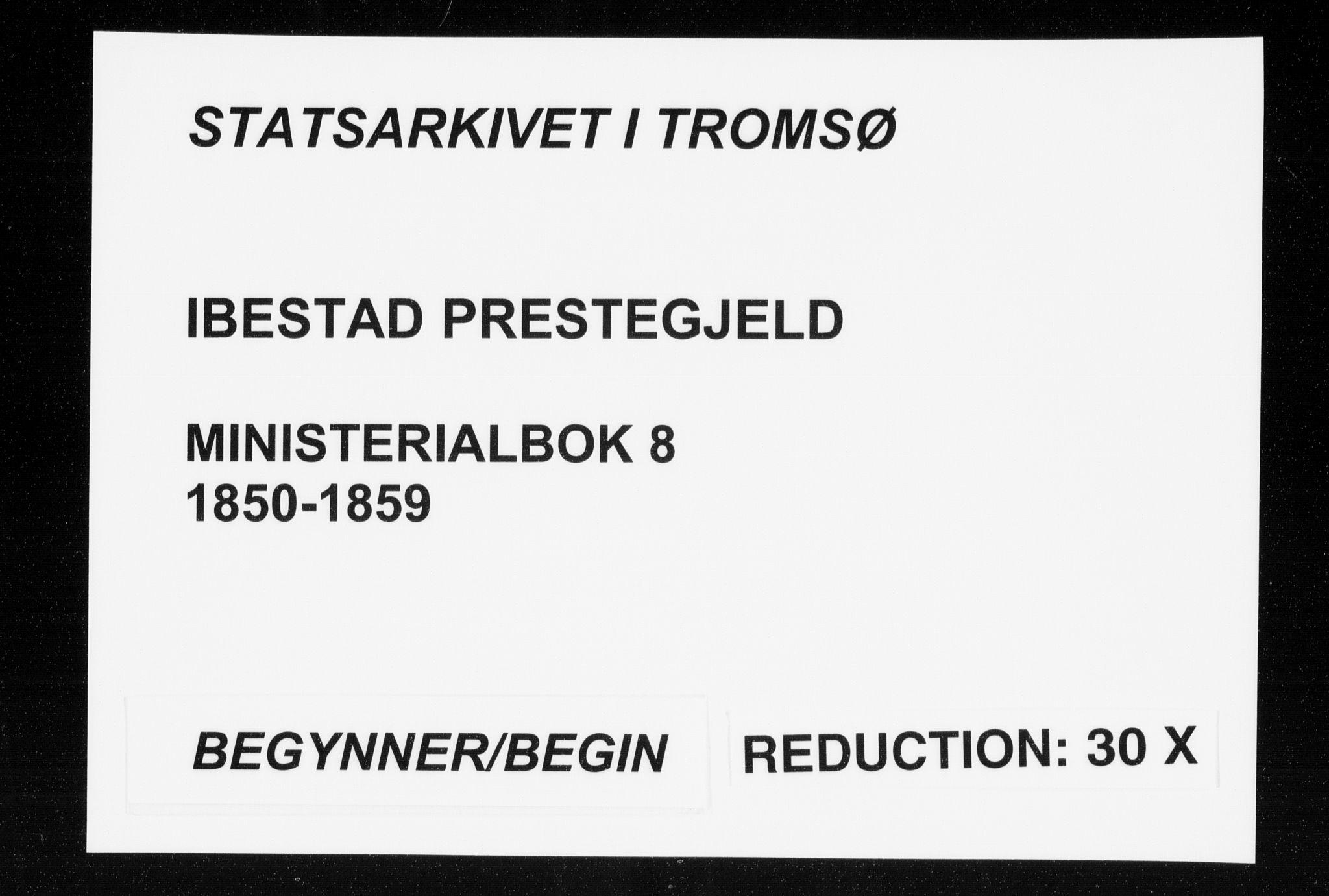 SATØ, Ibestad sokneprestembete, Ministerialbok nr. 8, 1850-1859