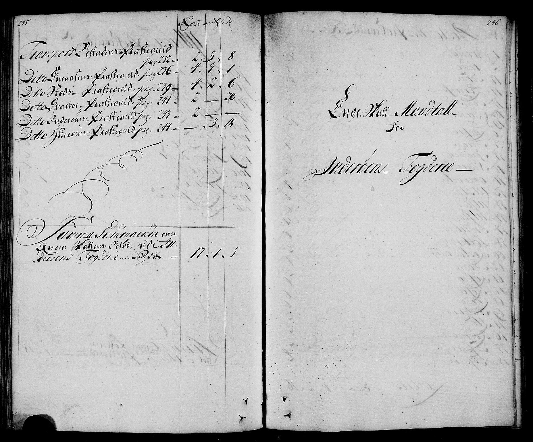 RA, Rentekammeret inntil 1814, Realistisk ordnet avdeling, N/Nb/Nbf/L0167: Inderøy matrikkelprotokoll, 1723, s. 245-246
