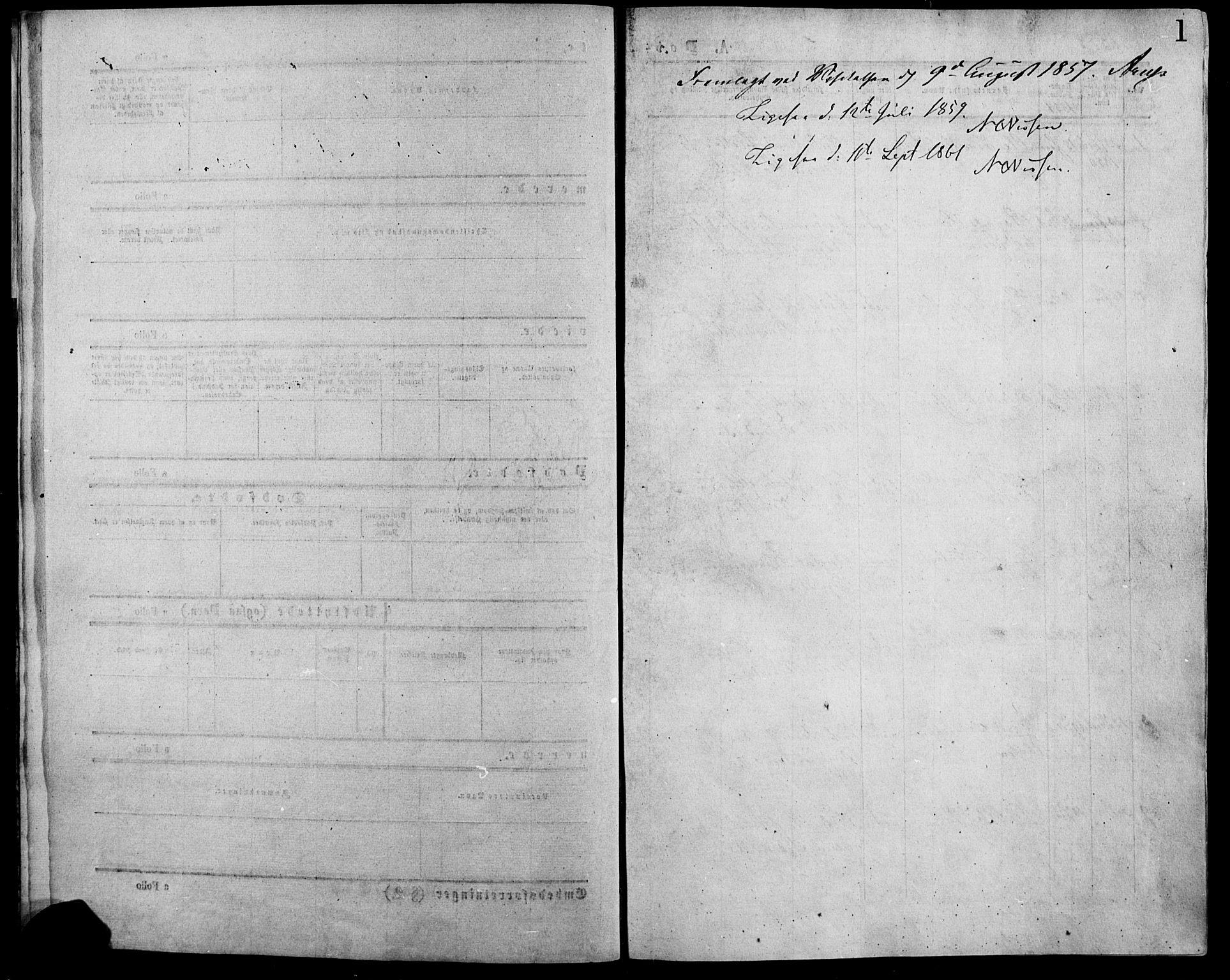 SAH, Lesja prestekontor, Ministerialbok nr. 7, 1854-1862, s. 1