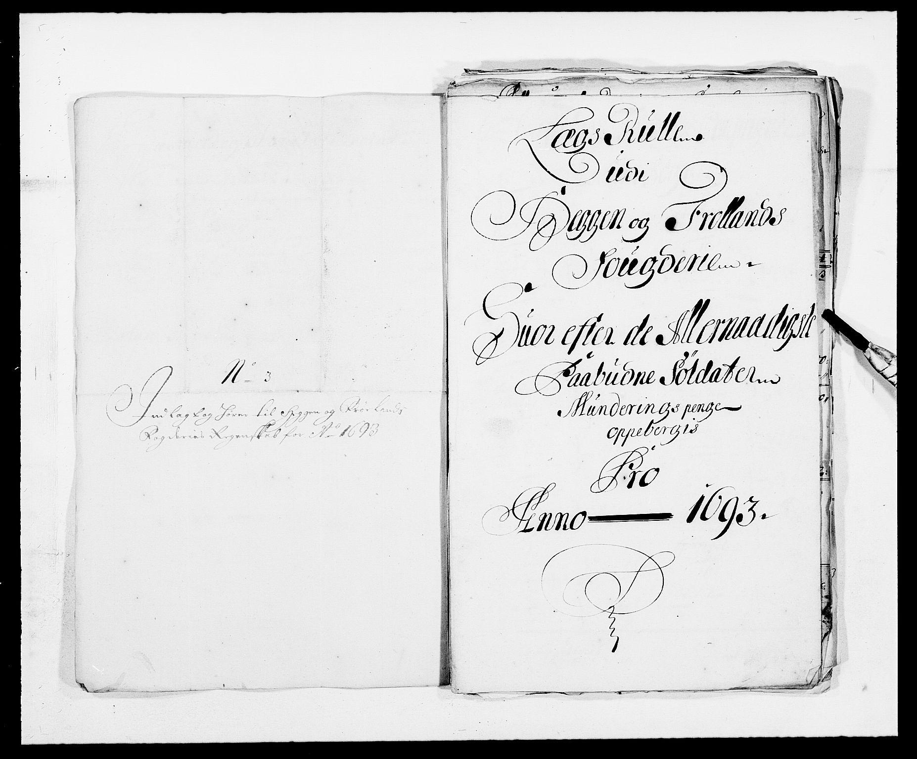 RA, Rentekammeret inntil 1814, Reviderte regnskaper, Fogderegnskap, R06/L0283: Fogderegnskap Heggen og Frøland, 1691-1693, s. 393